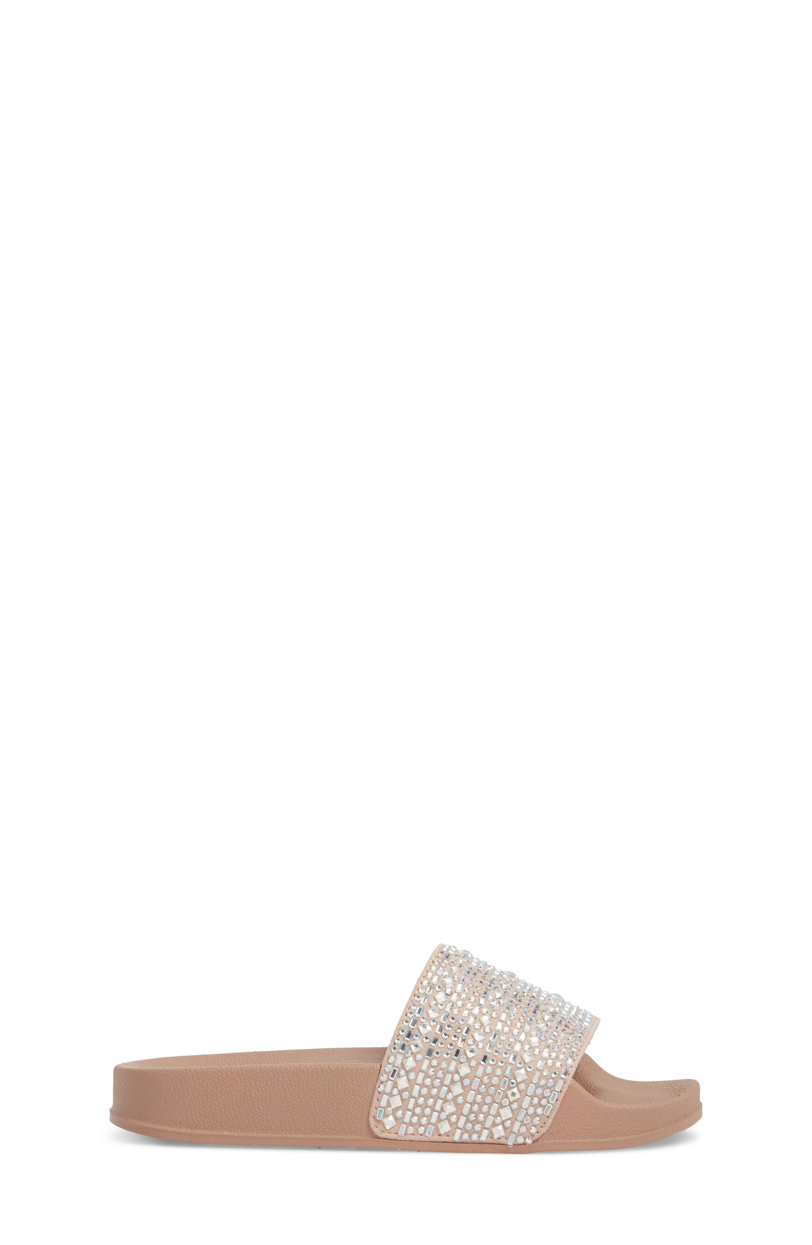 JDAZZLE Crystal Embellished Slide Sandal,                             Alternate thumbnail 3, color,                             Blush