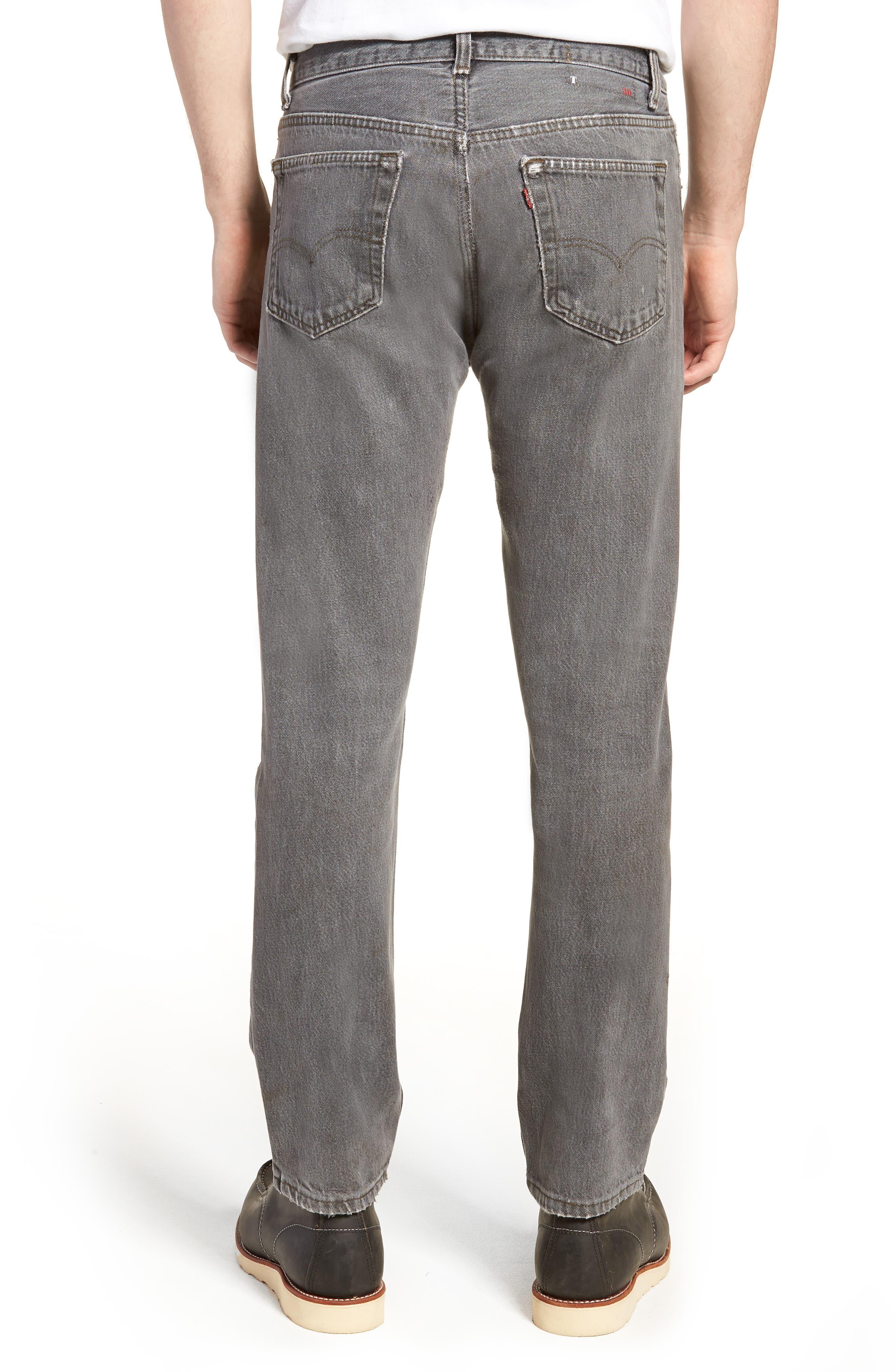 Authorized Vintage 501<sup>™</sup> Tapered Slim Fit Jeans,                             Alternate thumbnail 2, color,                             Av Black