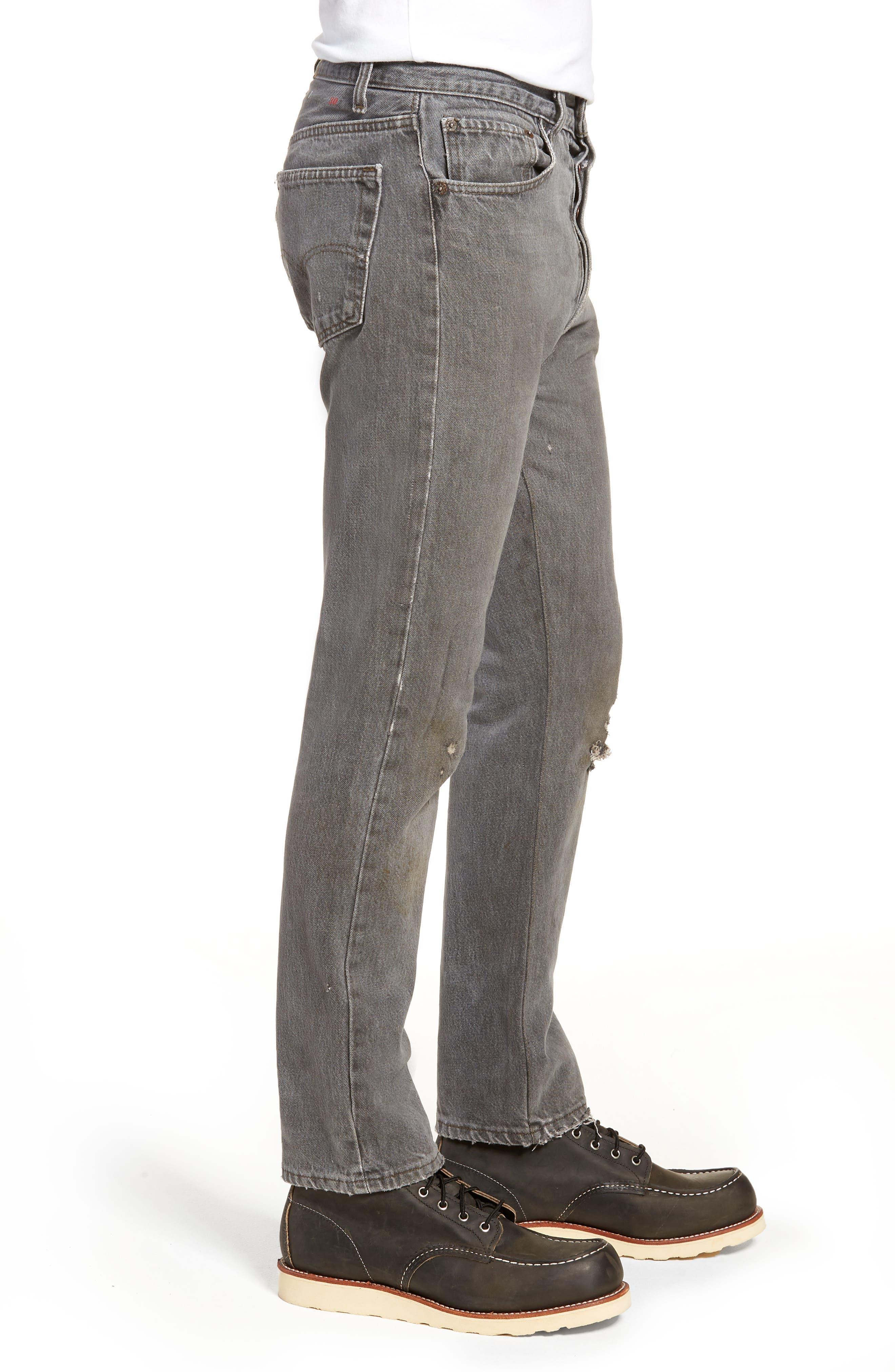 Authorized Vintage 501<sup>™</sup> Tapered Slim Fit Jeans,                             Alternate thumbnail 3, color,                             Av Black