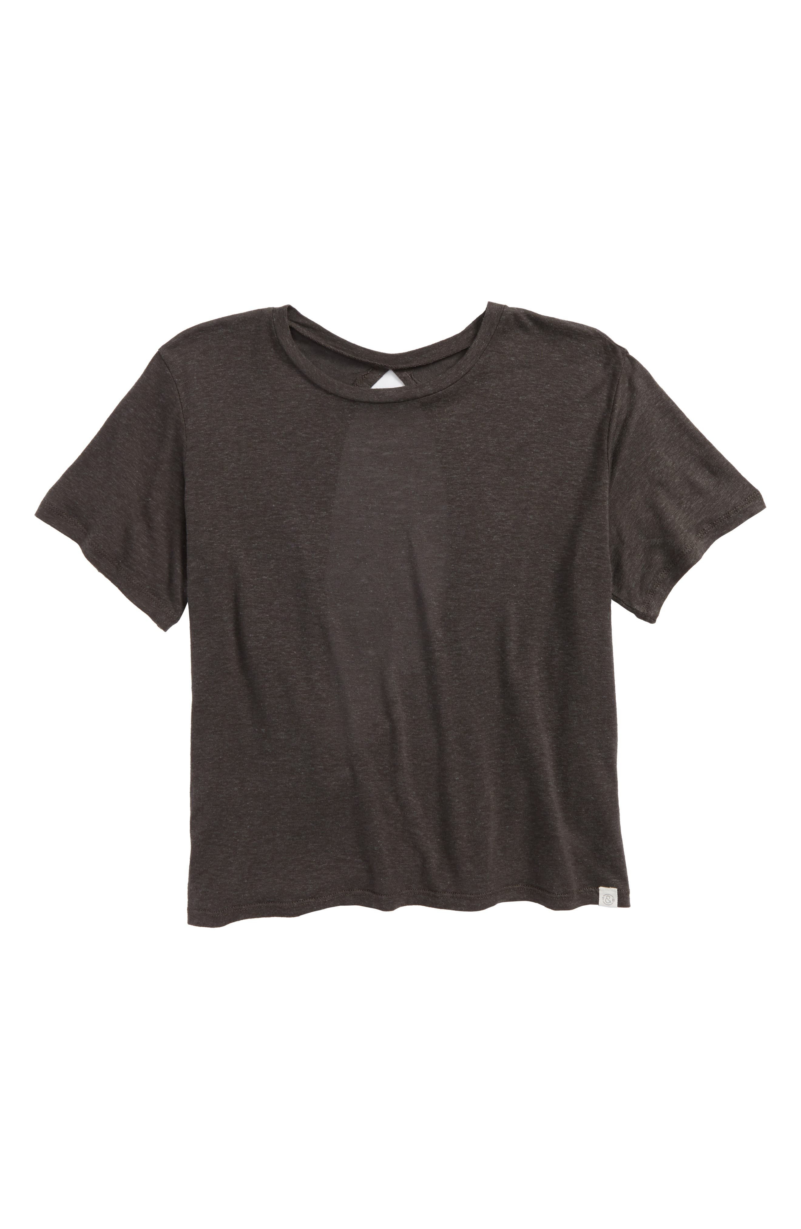 Treasure & Bond Envelope Back Tee (Big Girls)