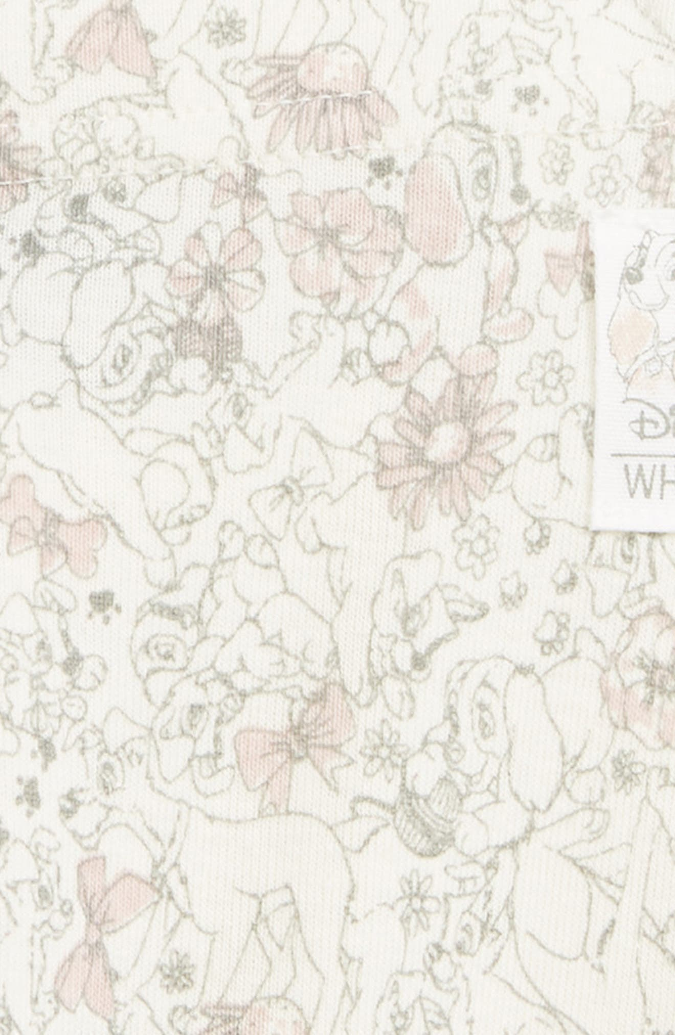 Disney 'Lady & the Tramp' Organic Cotton Leggings,                             Alternate thumbnail 2, color,                             Ivory
