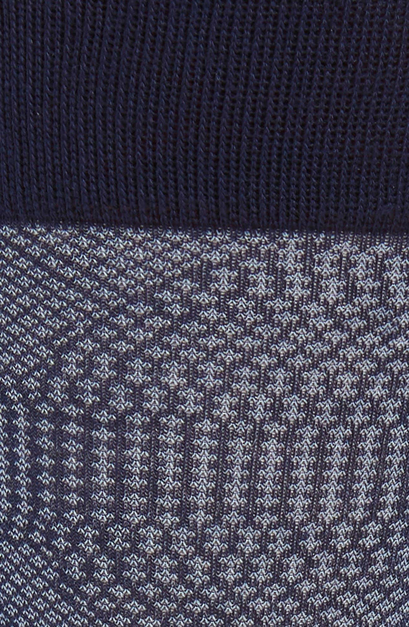 Quatrefoil Solid Socks,                             Alternate thumbnail 2, color,                             Navy/ White