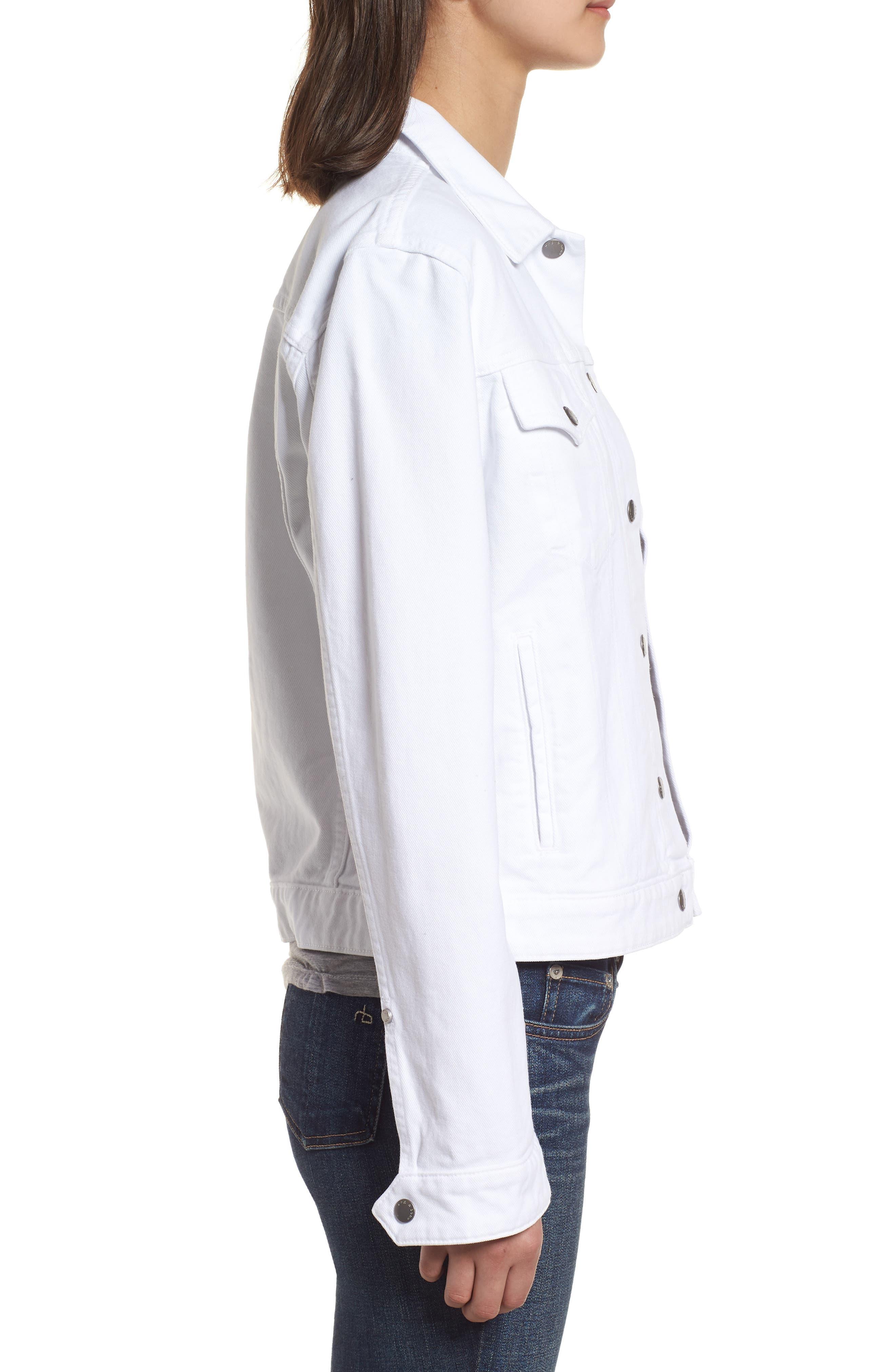 Nico Denim Jacket,                             Alternate thumbnail 3, color,                             White