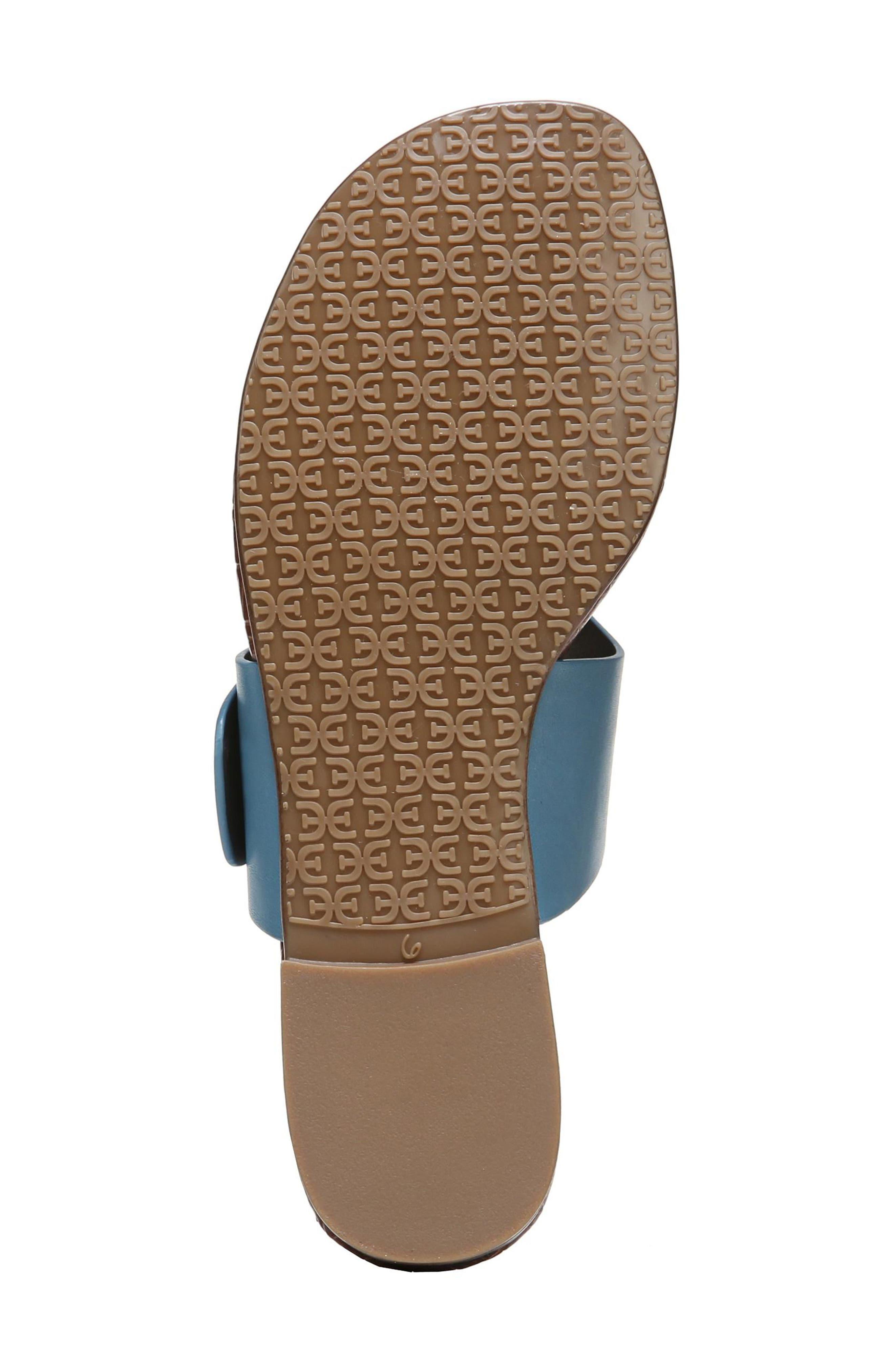 Barry V-Strap Thong Sandal,                             Alternate thumbnail 6, color,                             Denim Blue Leather