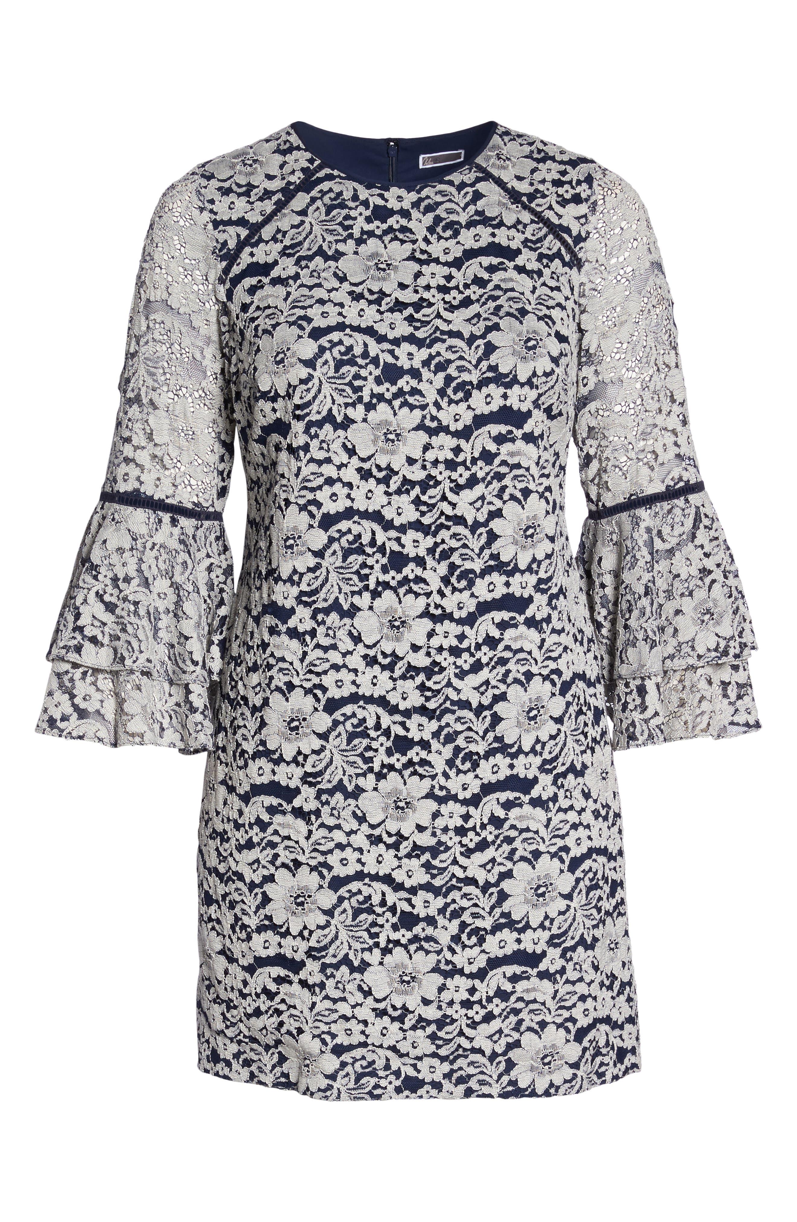 Alternate Image 6  - Chelsea28 Lace Tier Bell Sleeve Shift Dress (Plus Size)