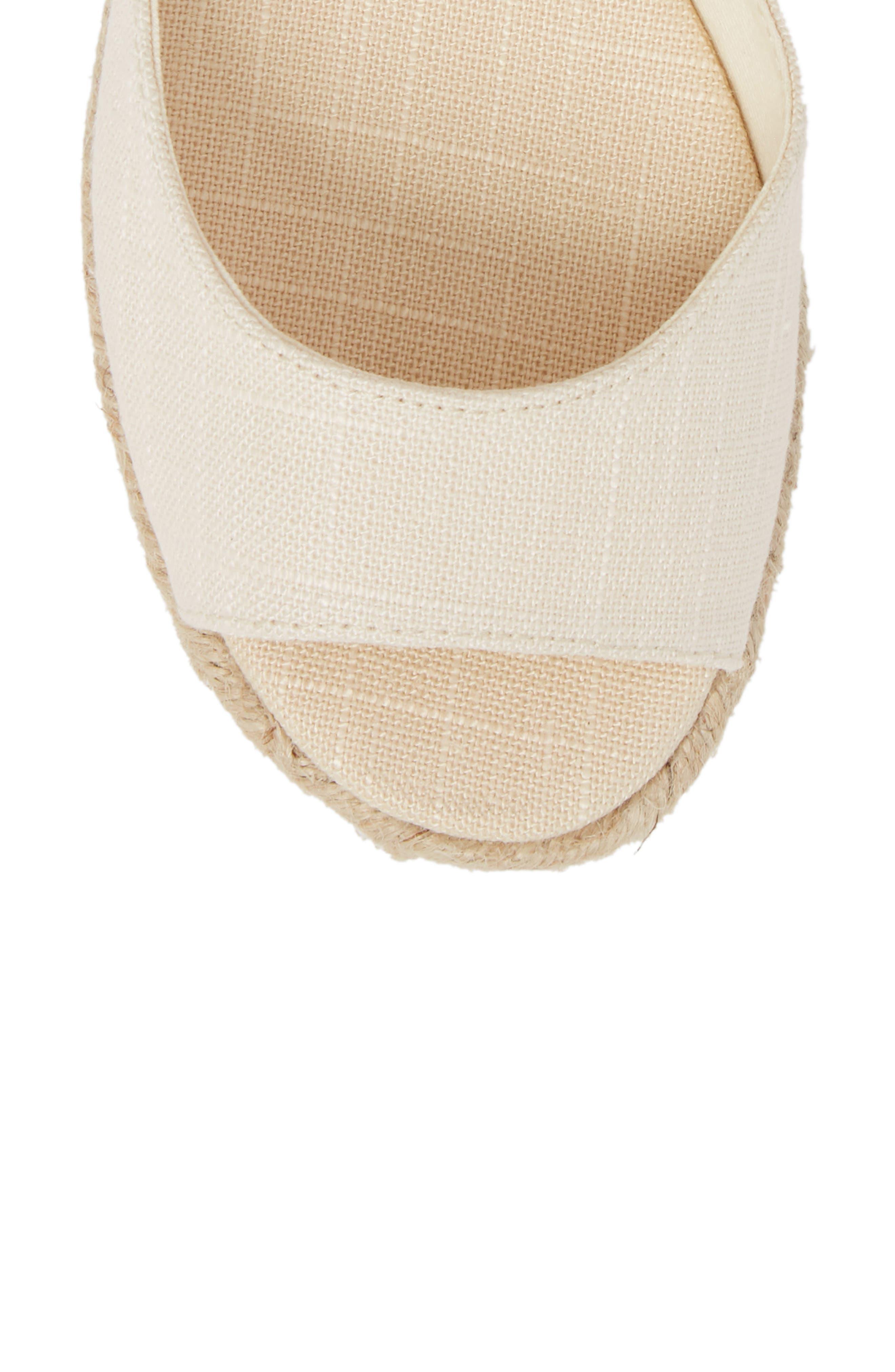 Espadrille Platform Sandal,                             Alternate thumbnail 5, color,                             Blush Fabric
