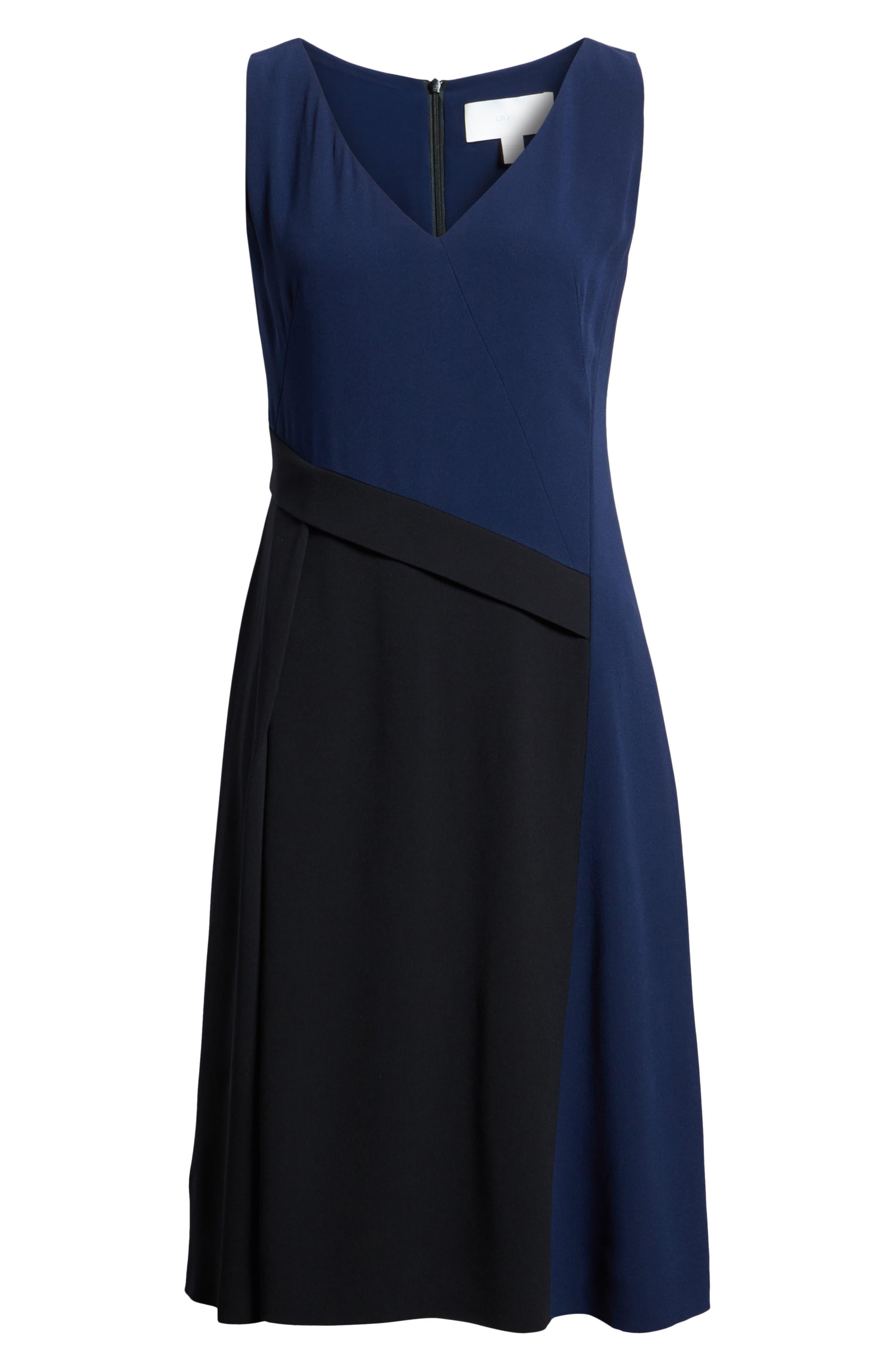 Demana A-Line Dress,                             Alternate thumbnail 6, color,                             Black