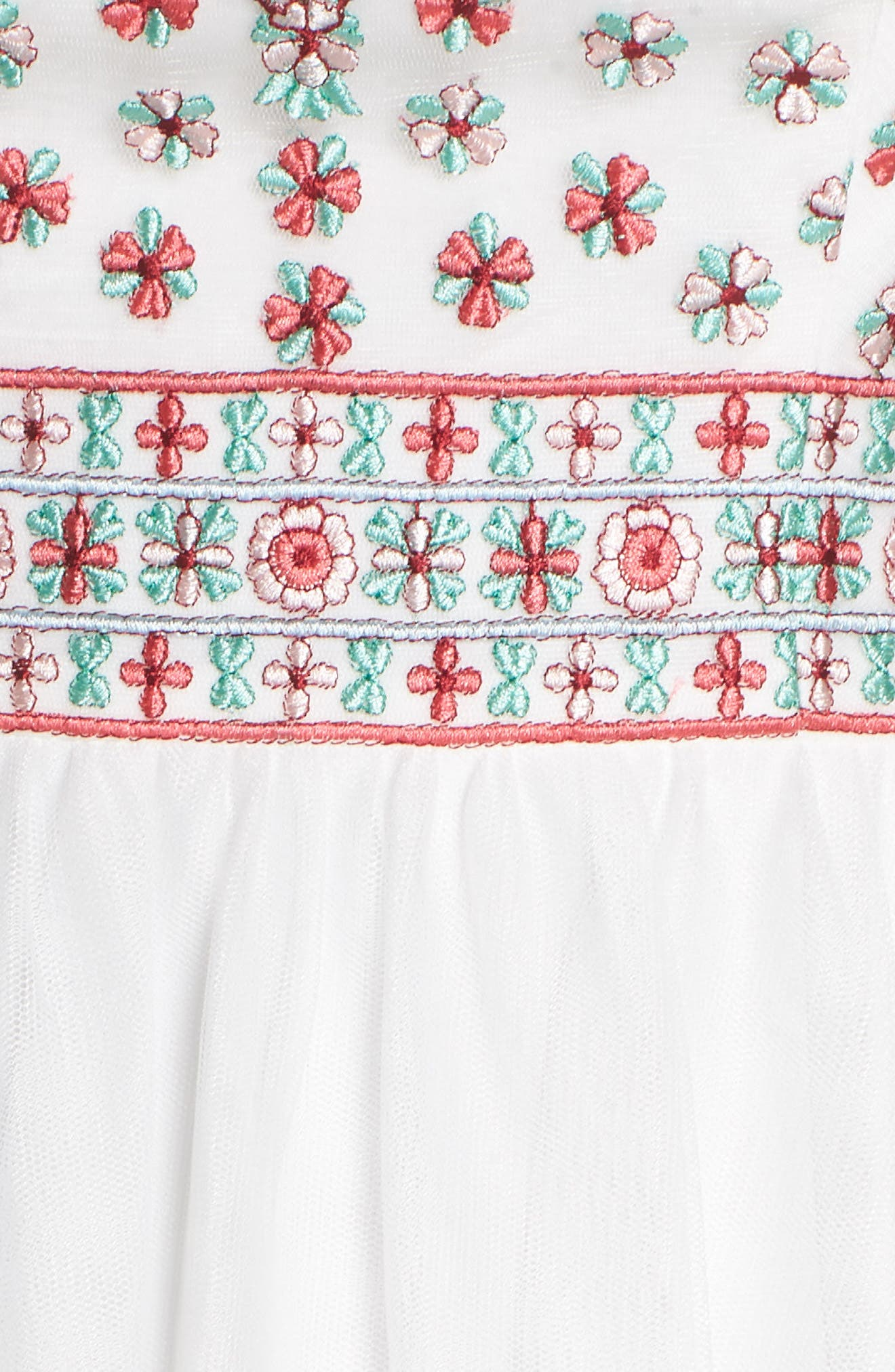 Embroidered Halter Gown,                             Alternate thumbnail 5, color,                             Ivory/ Multi