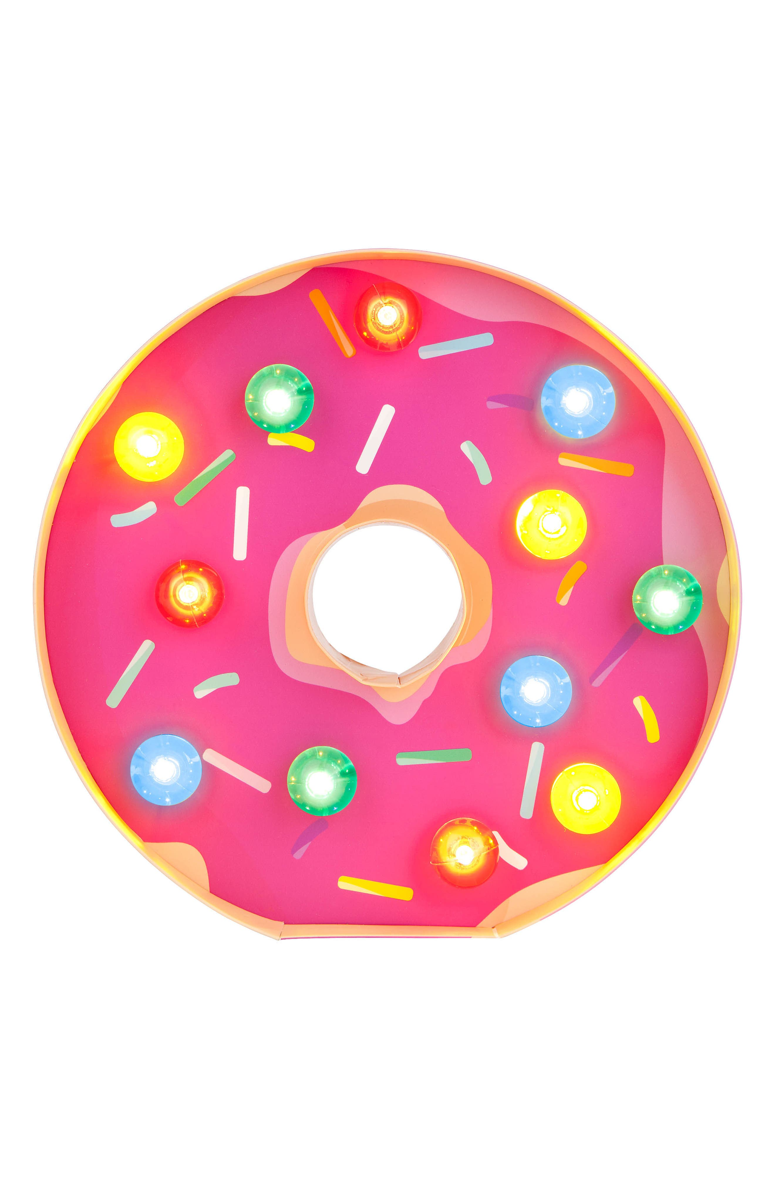 Donut Marquee Light,                             Alternate thumbnail 5, color,                             Pink