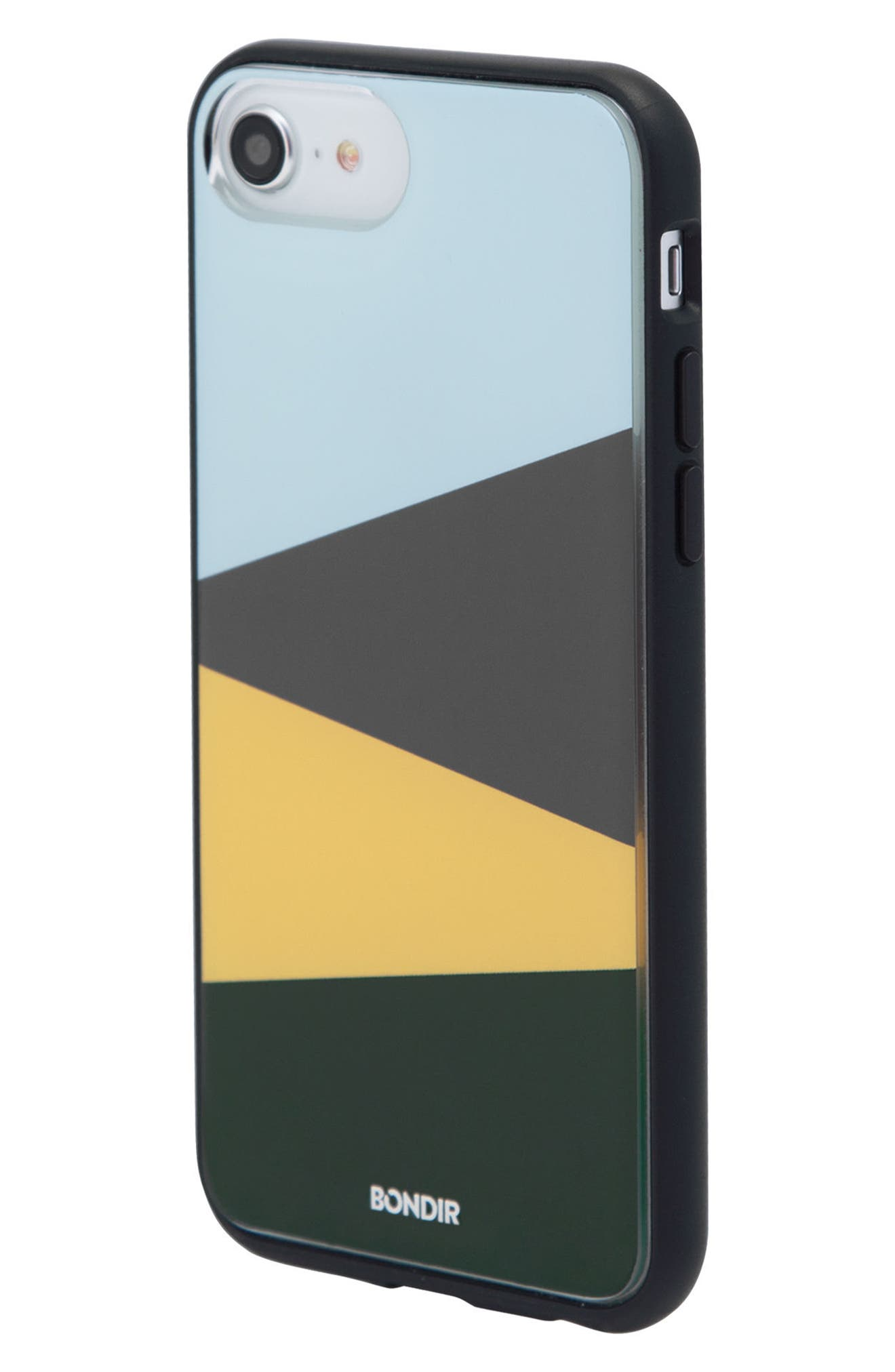 Colorblock iPhone 6/6s/7/8 & 6/6s/7/8 Plus Case,                             Alternate thumbnail 3, color,                             Blue/ Green