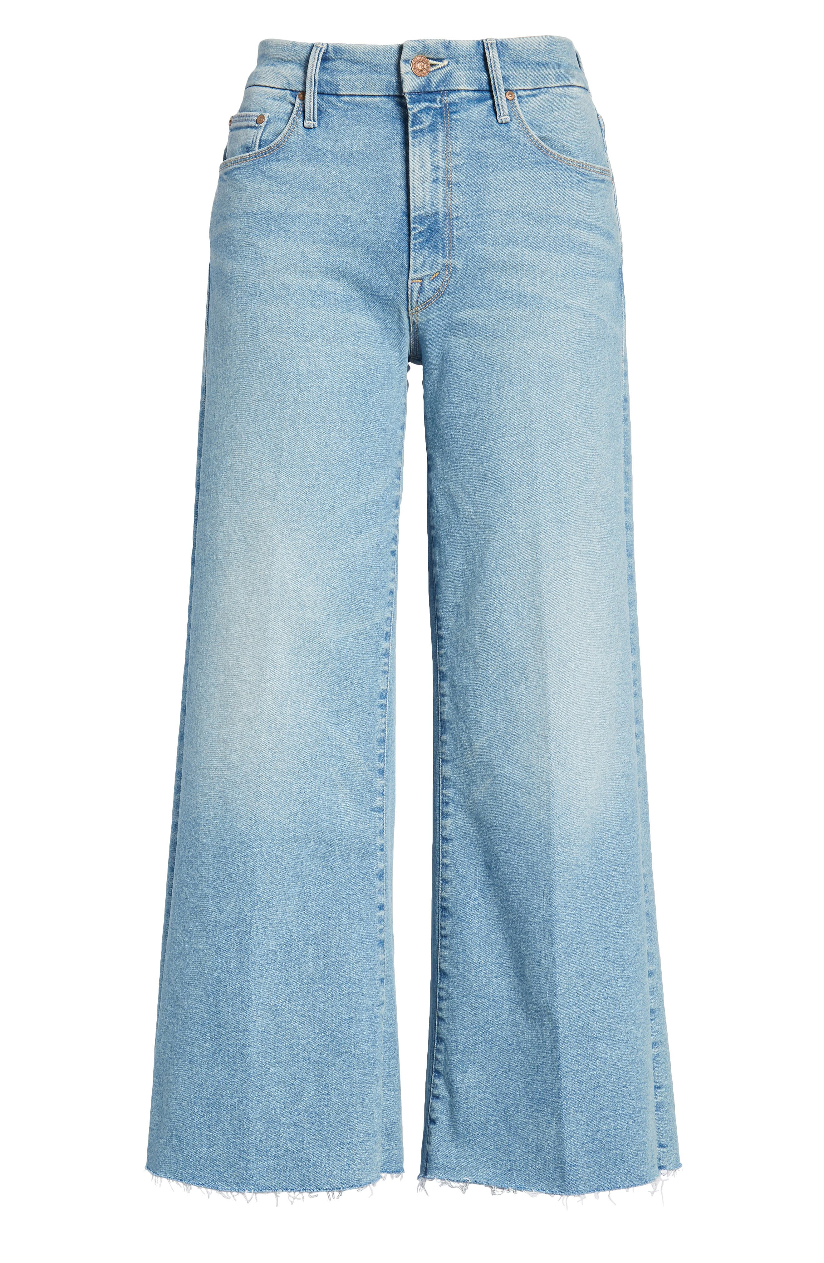 The Roller Crop Fray Wide Leg Jeans,                             Alternate thumbnail 7, color,                             Ready To Roll