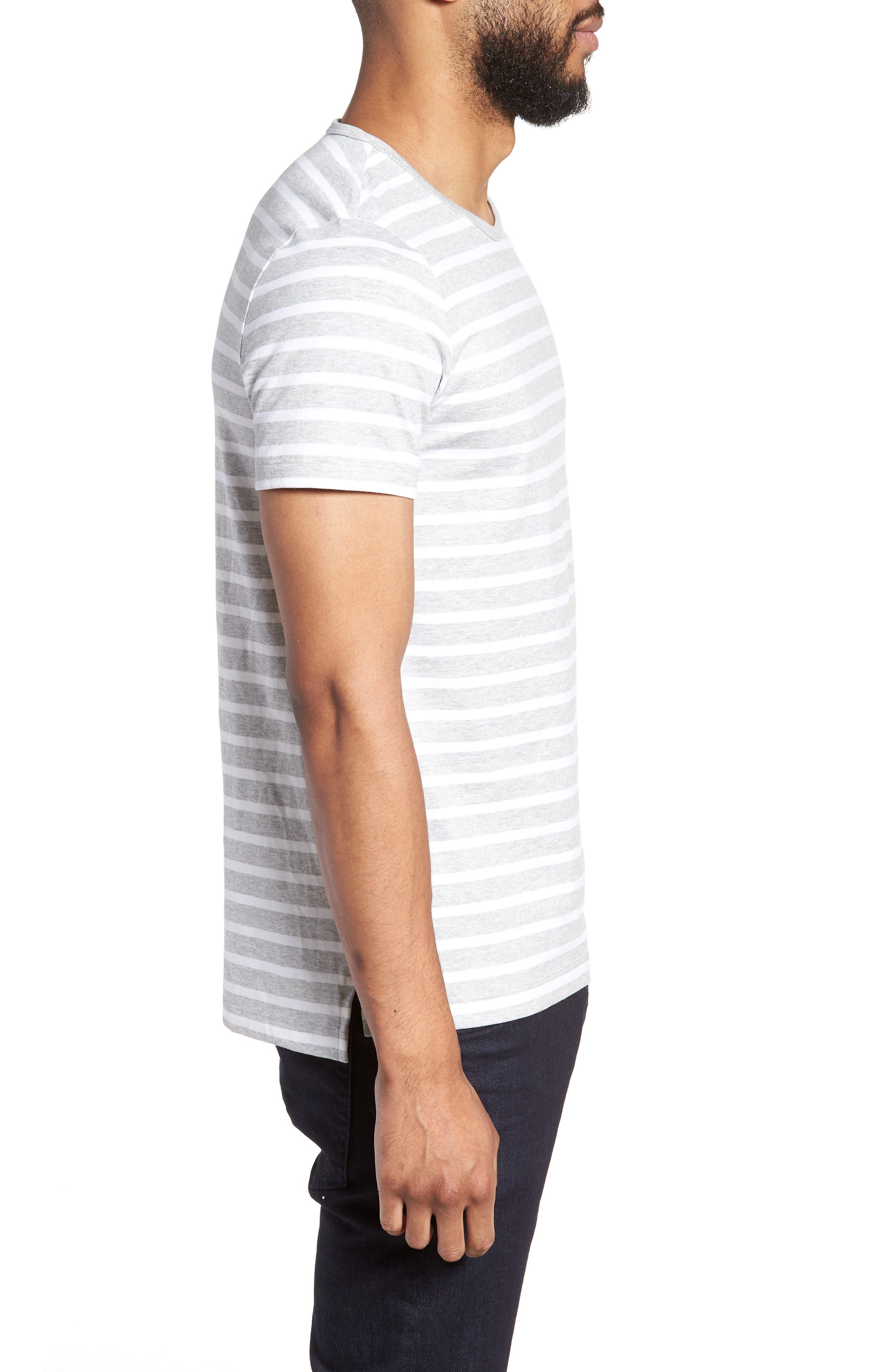 Tessler Slim Fit Crewneck T-Shirt,                             Alternate thumbnail 3, color,                             Grey