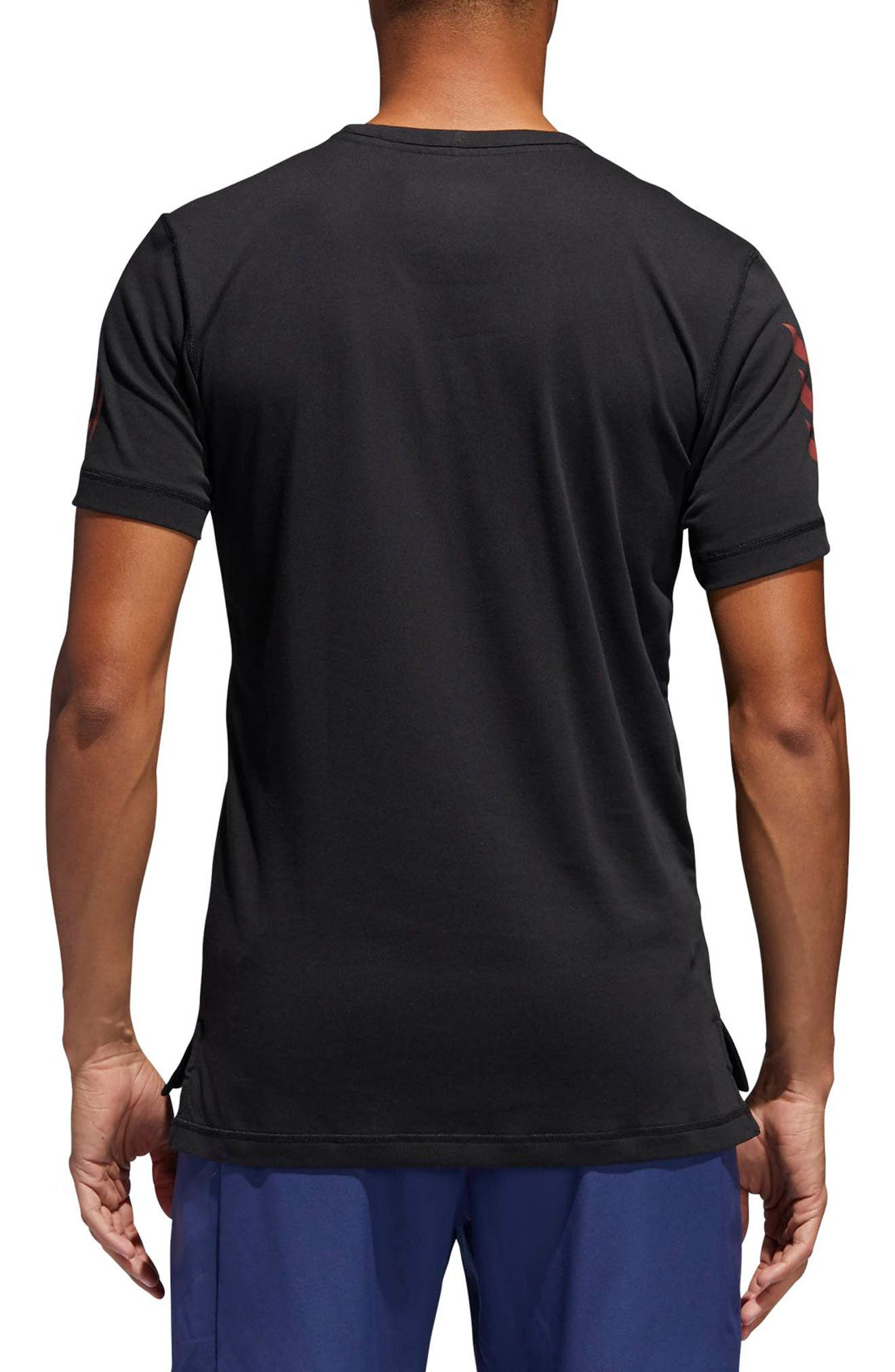 Harden Brand Slogan T-Shirt,                             Alternate thumbnail 2, color,                             Black