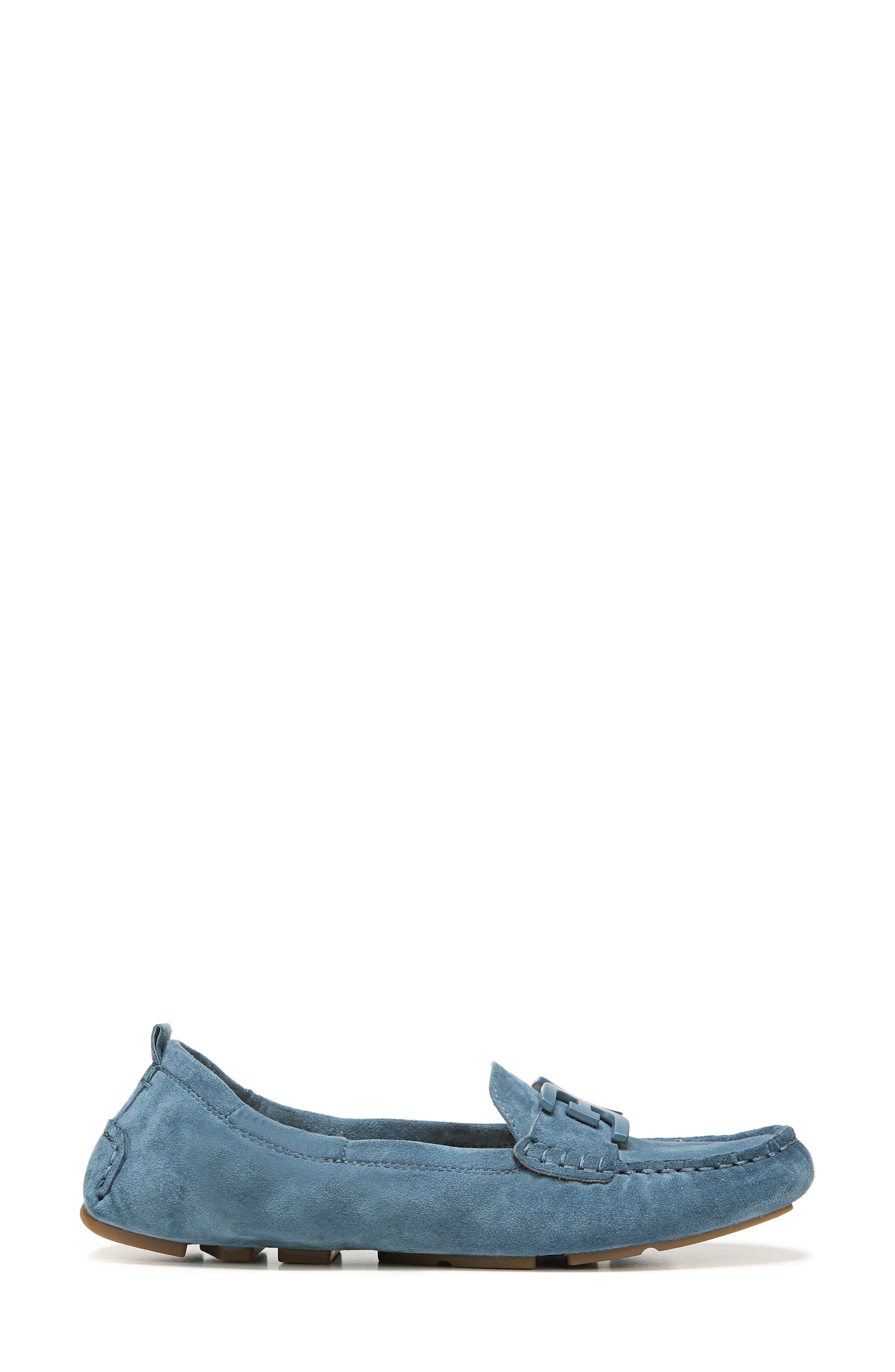 Farrell Moccasin Loafer,                             Alternate thumbnail 3, color,                             Denim Blue Suede
