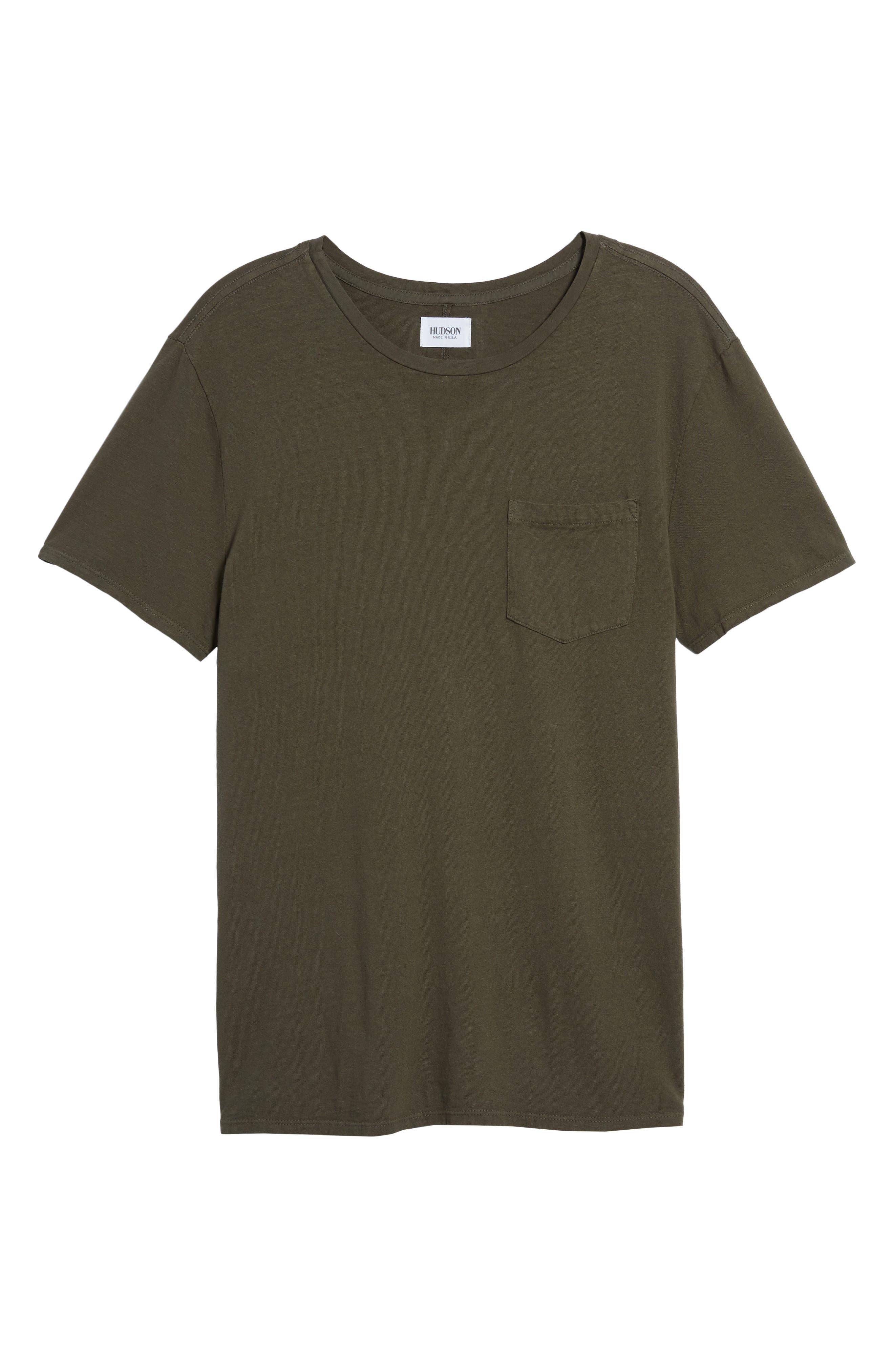 Pocket T-Shirt,                             Alternate thumbnail 6, color,                             Olive