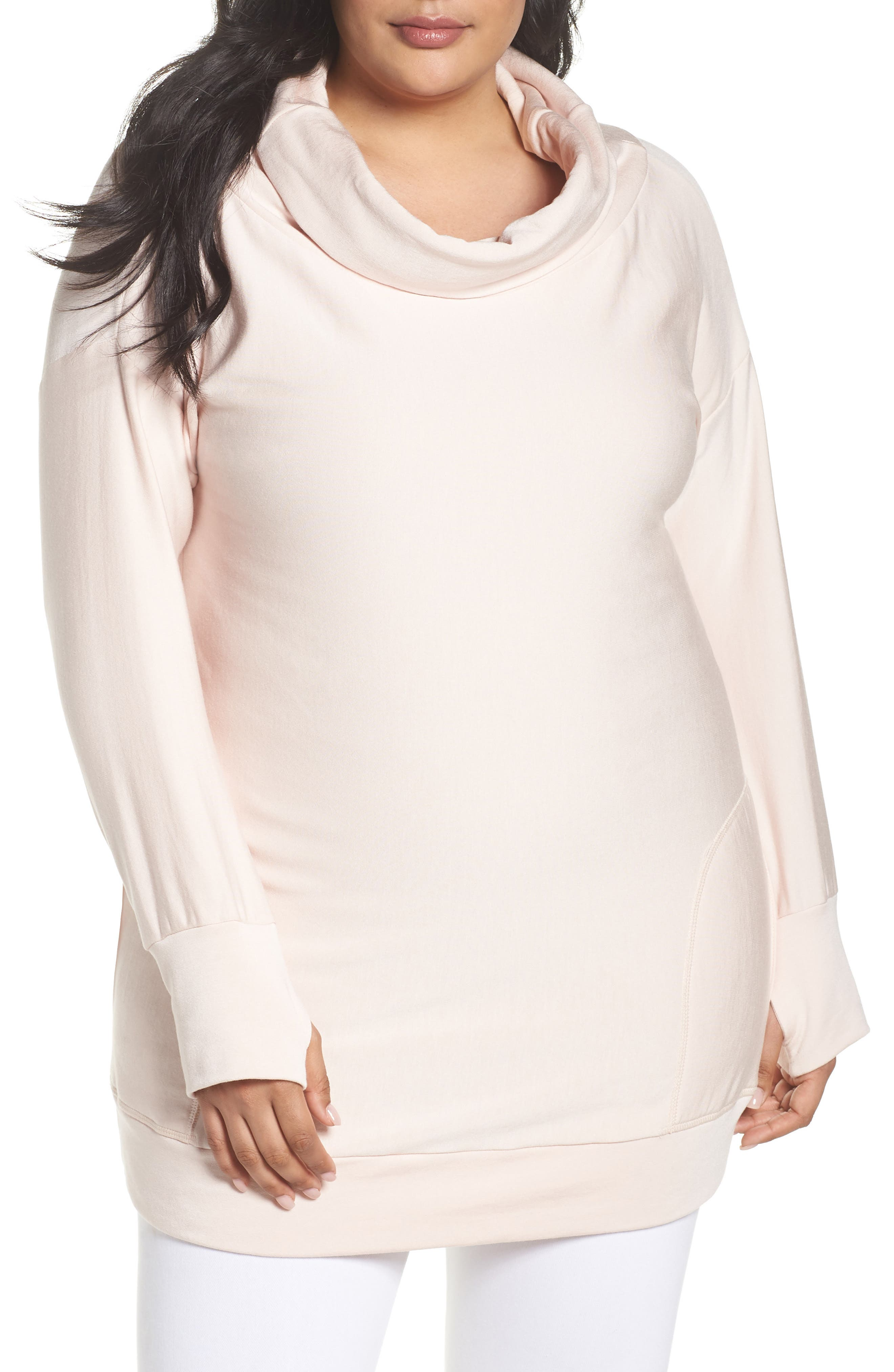 Off the Shoulder Sweater,                         Main,                         color, Pink Morganite