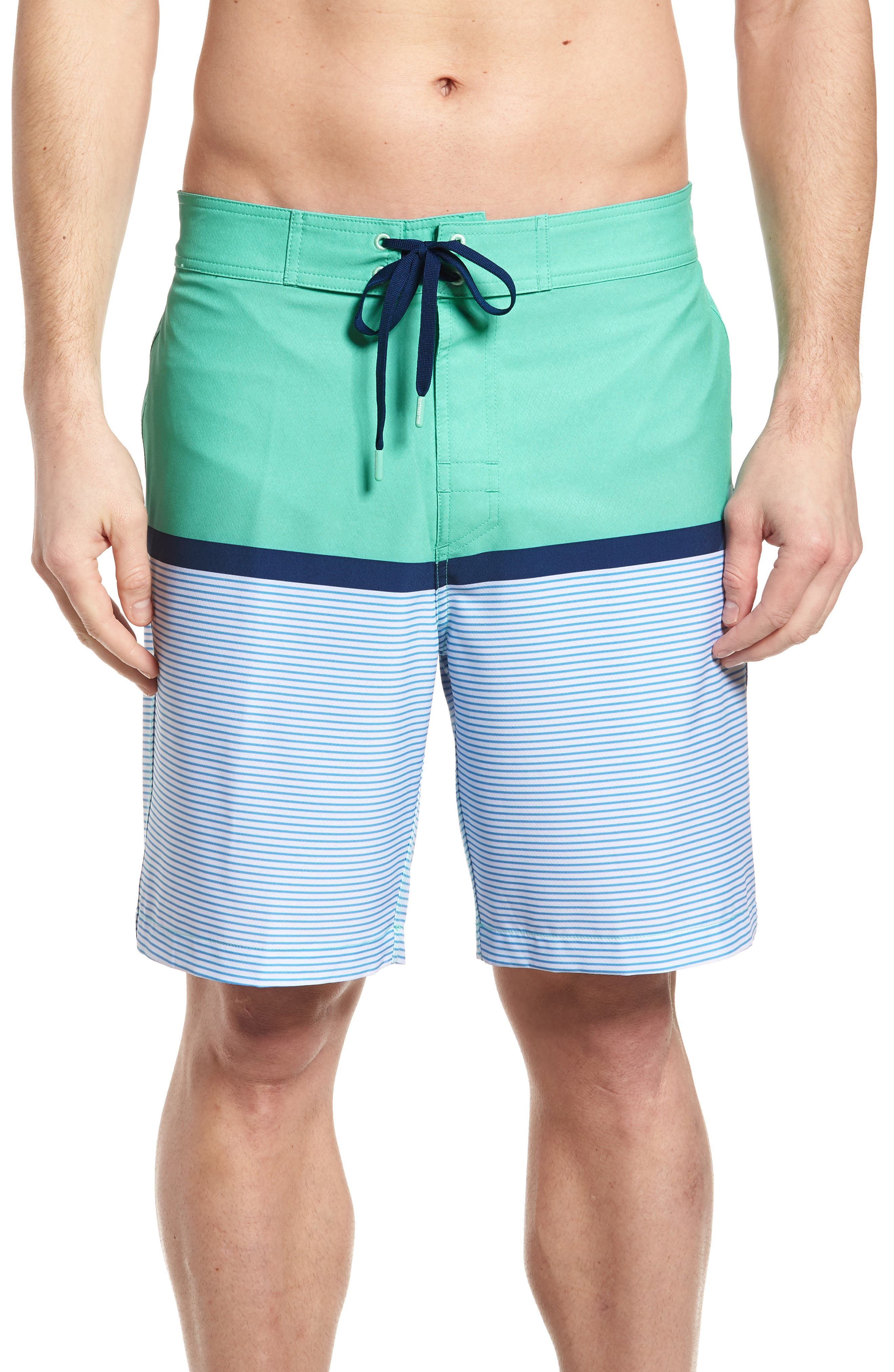 Main Image - Southern Tide Blue Lagoon Swim Trunks