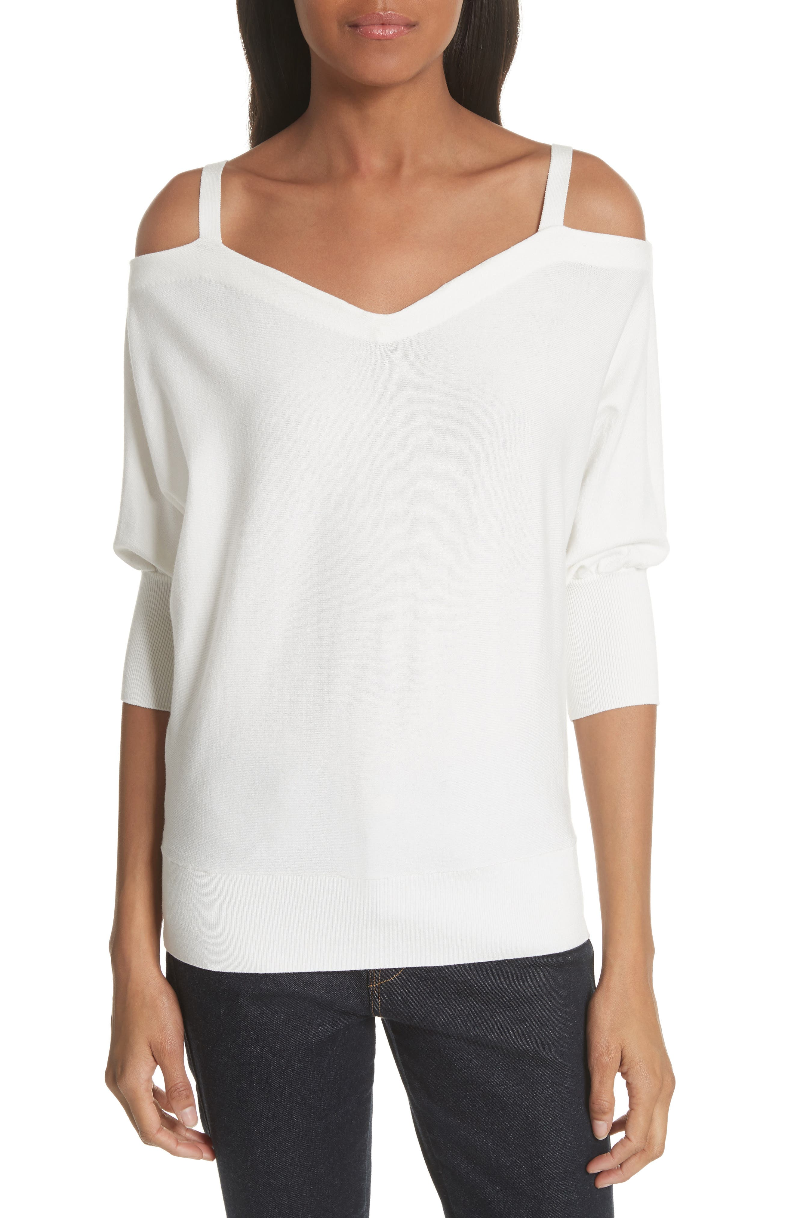 Drama Cold Shoulder Dolman Sleeve Top by Milly