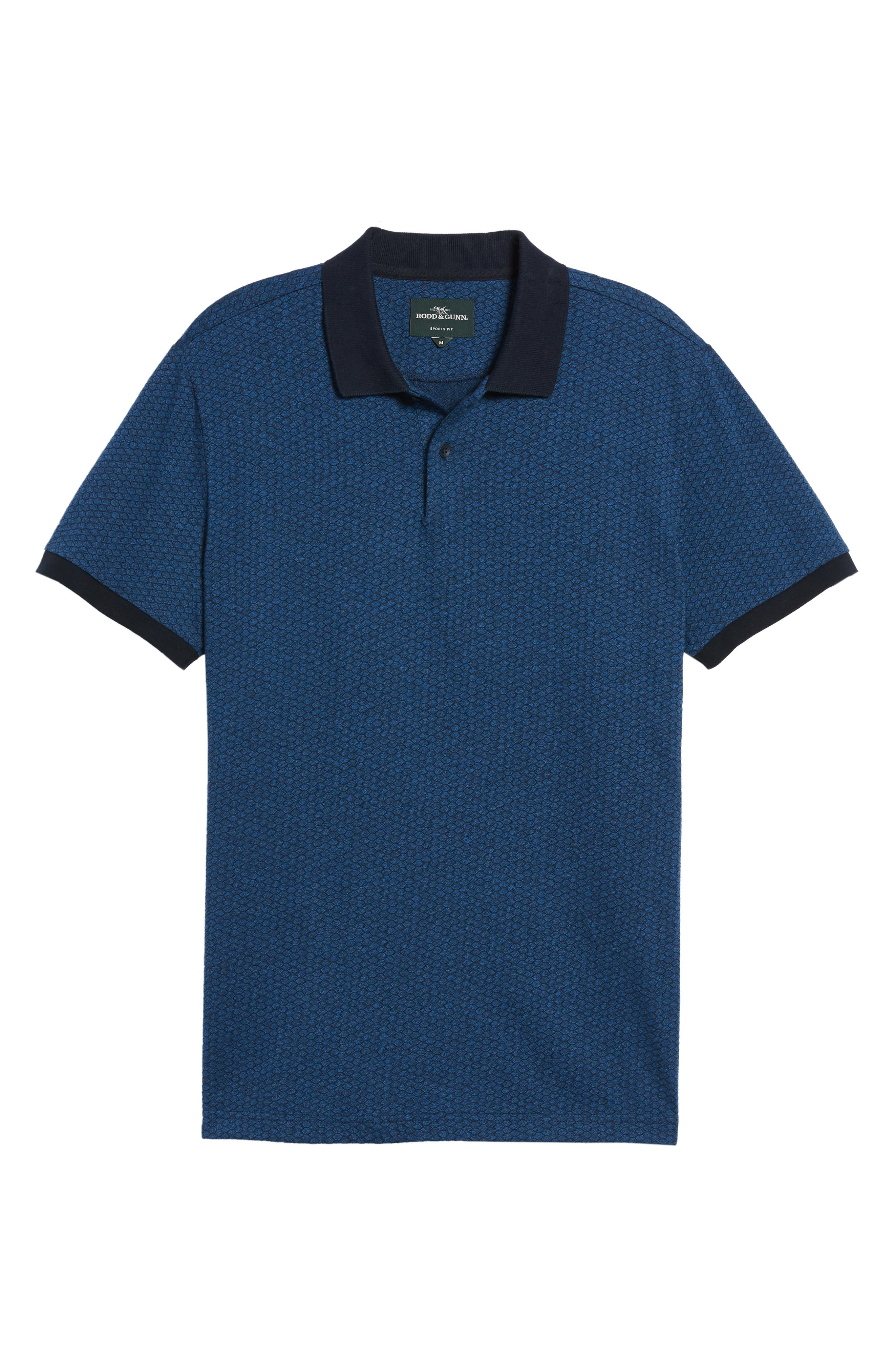 Mantle Hill Sports Fit Polo,                             Alternate thumbnail 6, color,                             Ocean