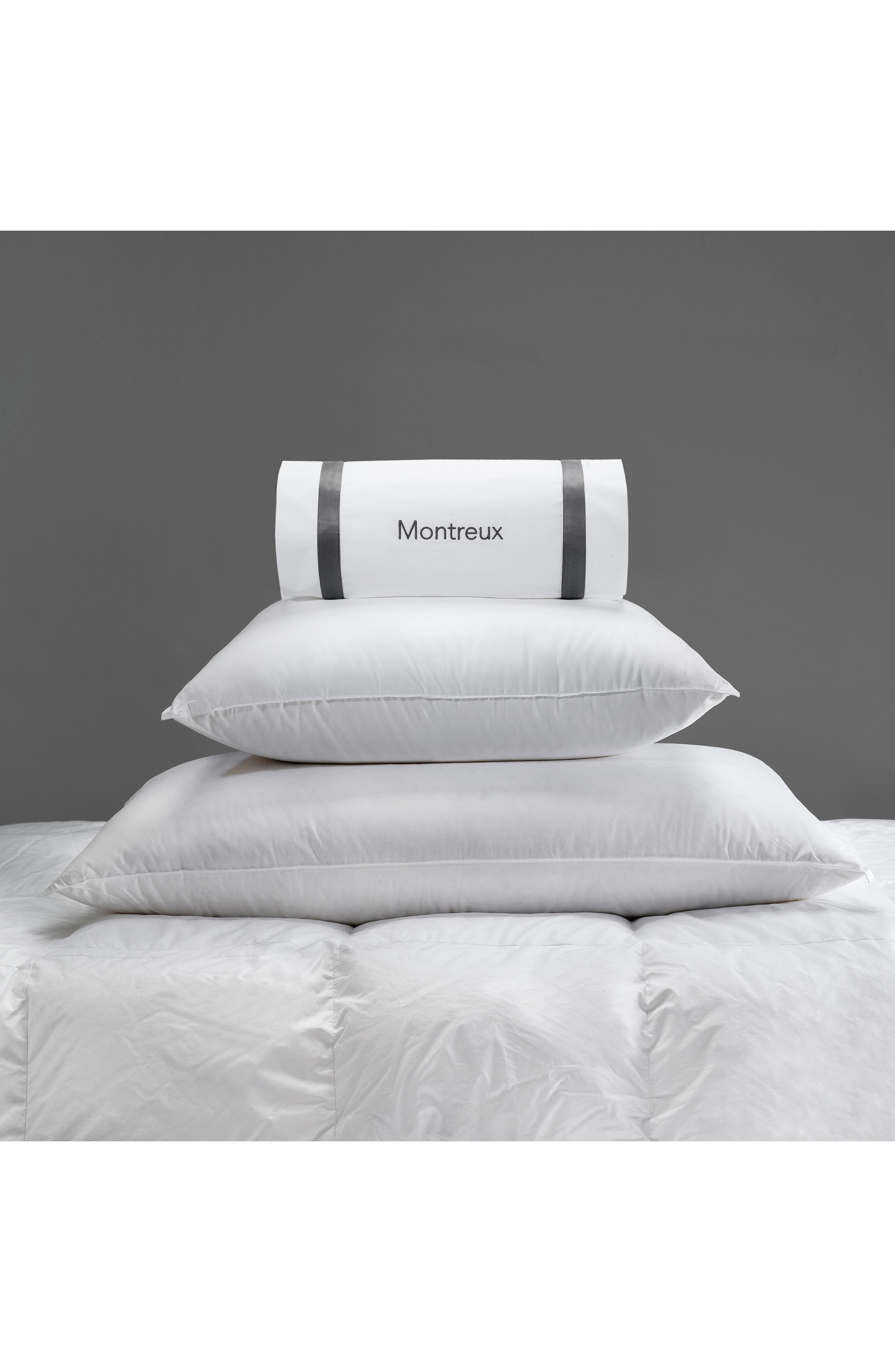Montreux Three-Chamber 600 Fill Power Down & Feather 280 Thread Count Pillow,                             Alternate thumbnail 2, color,                             White
