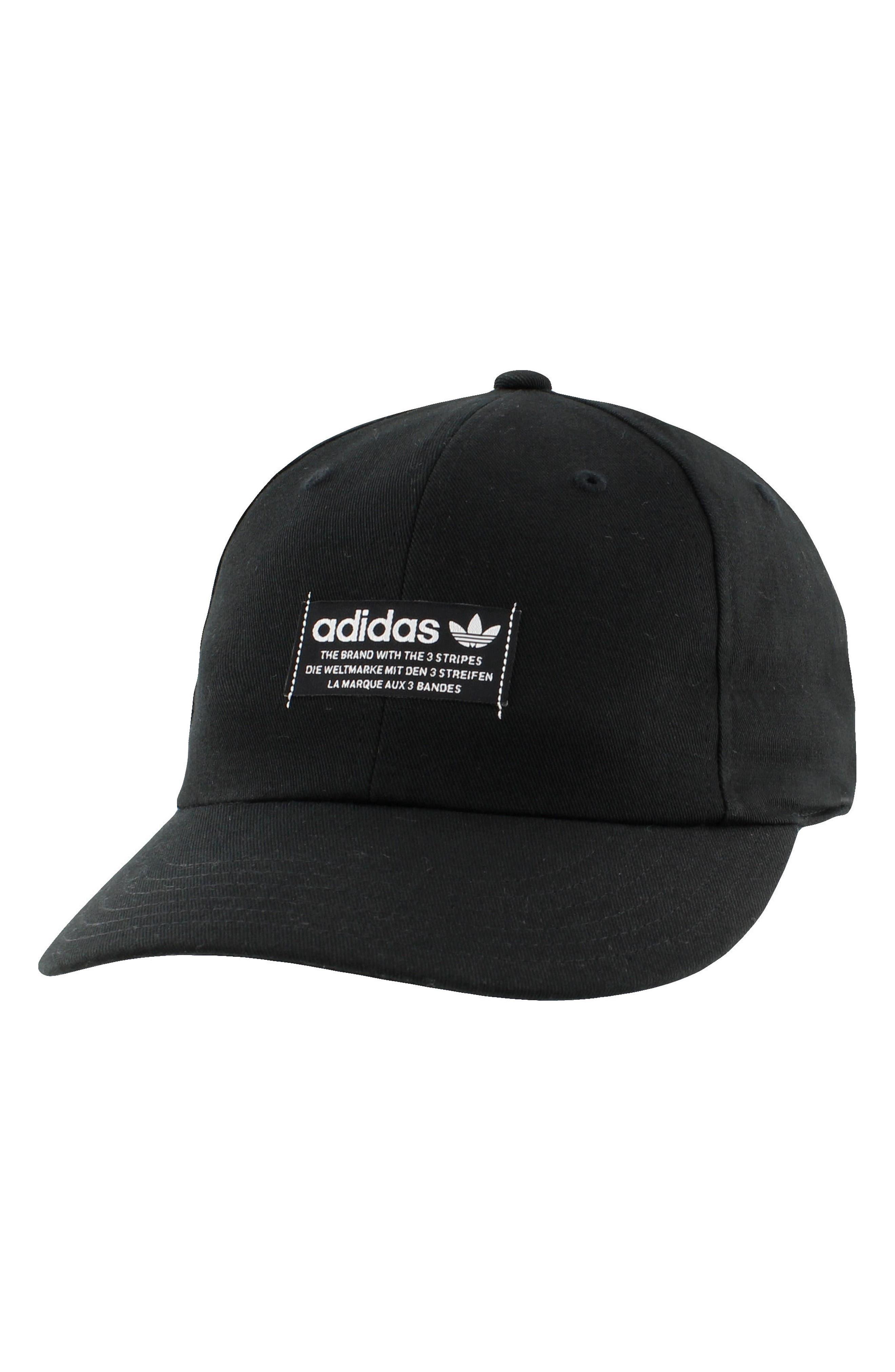 adidas Original Relaxed Patch Ball Cap,                             Main thumbnail 1, color,                             Black