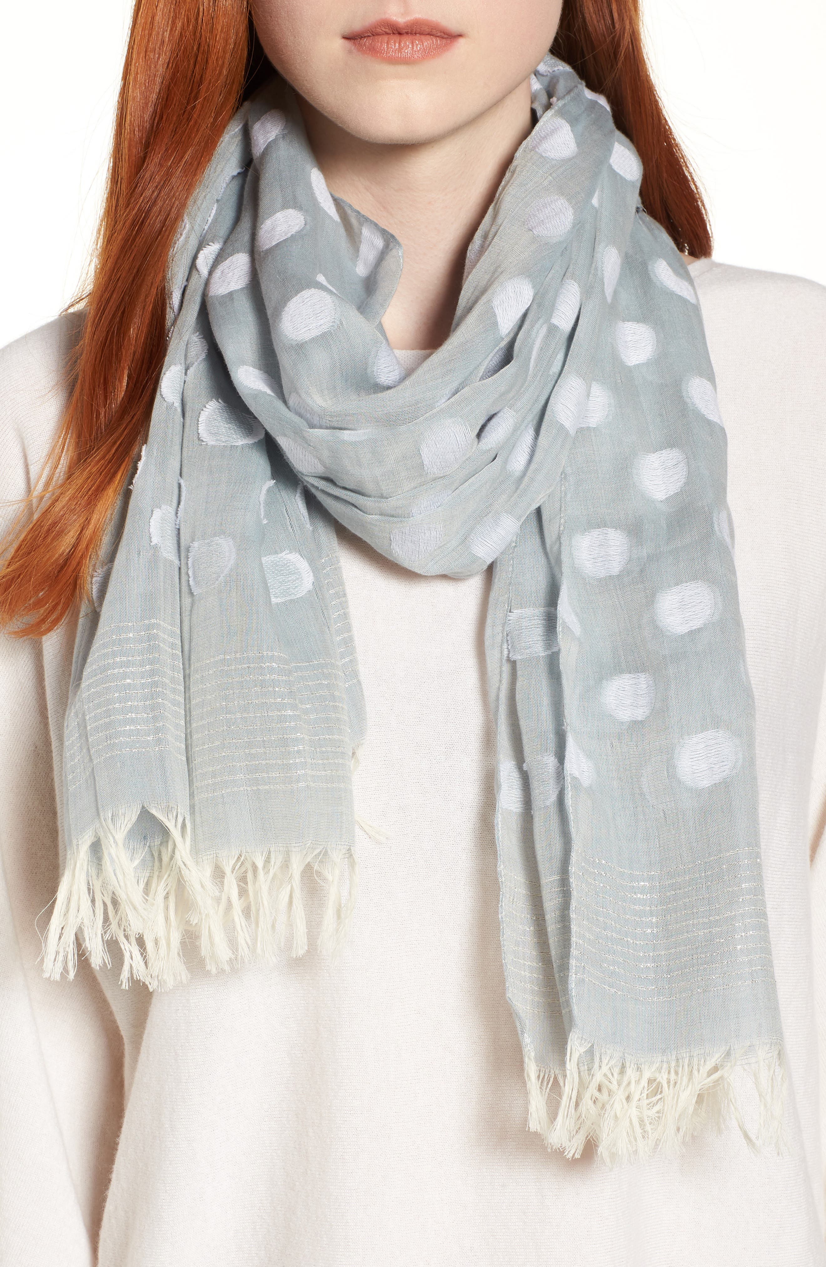 Main Image - Eileen Fisher Clip Dot Scarf