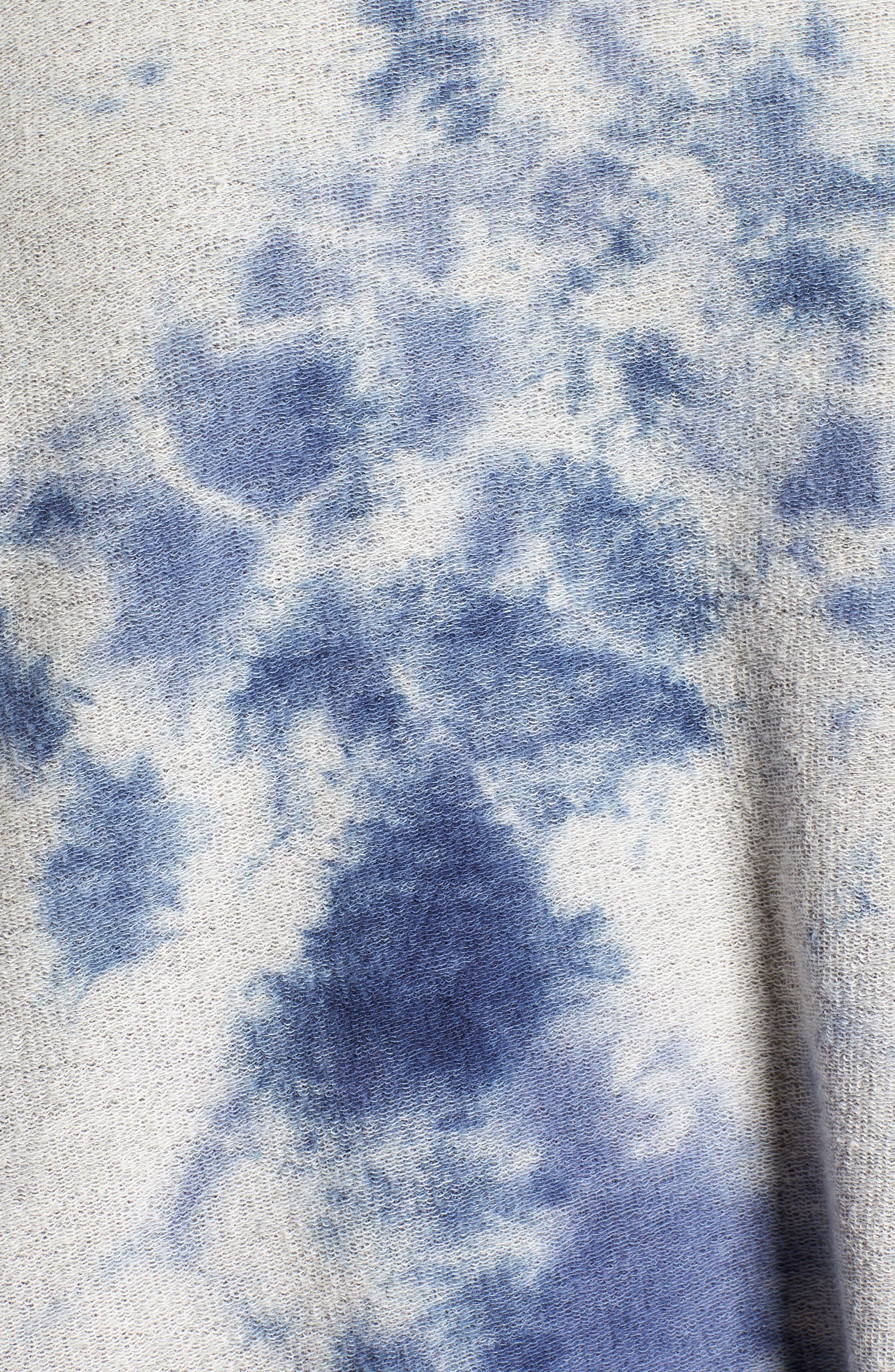 Tie Dye Pullover,                             Alternate thumbnail 6, color,                             Navy Tie Dye
