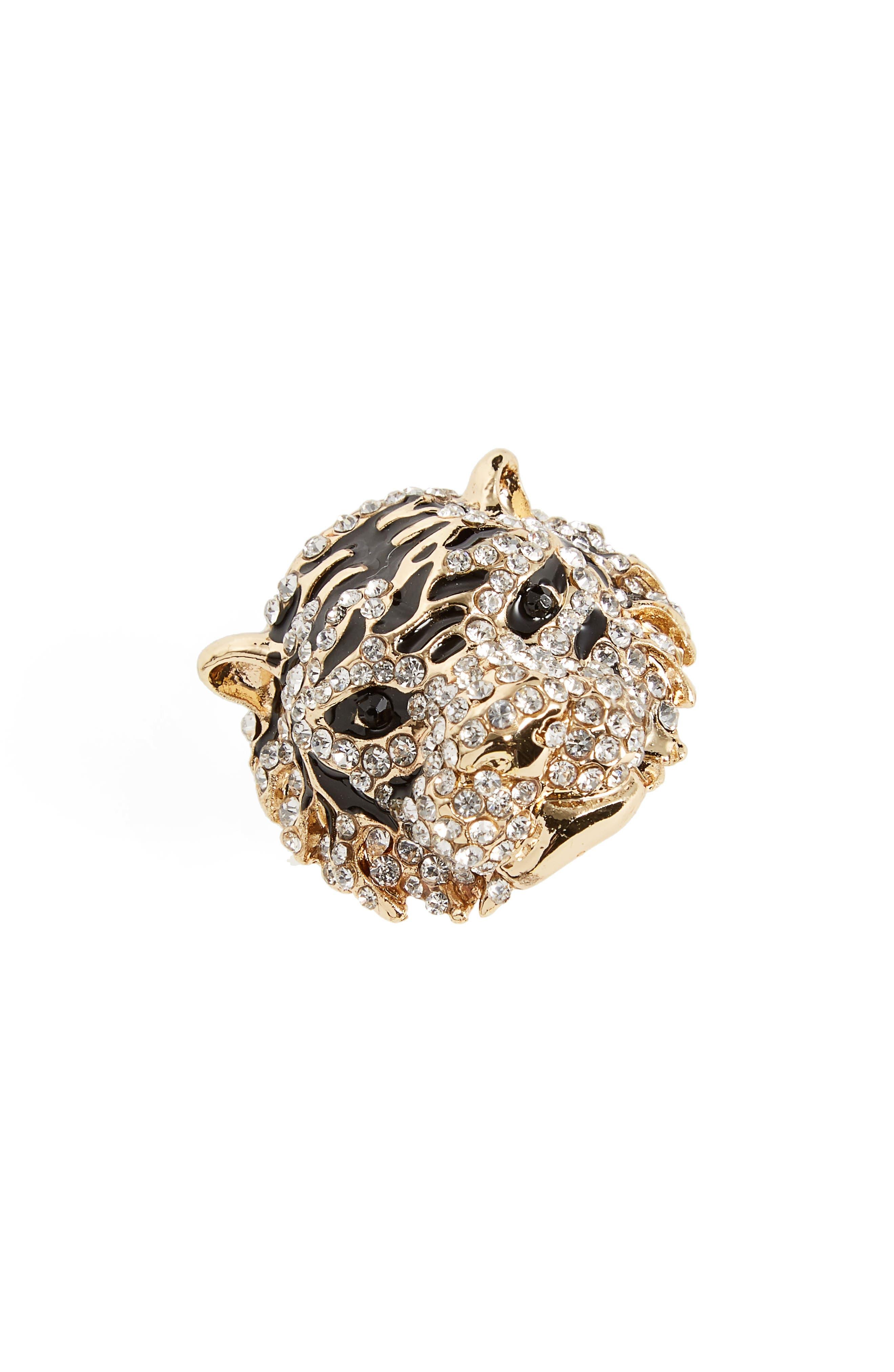 Cara Crystal Tiger Ring