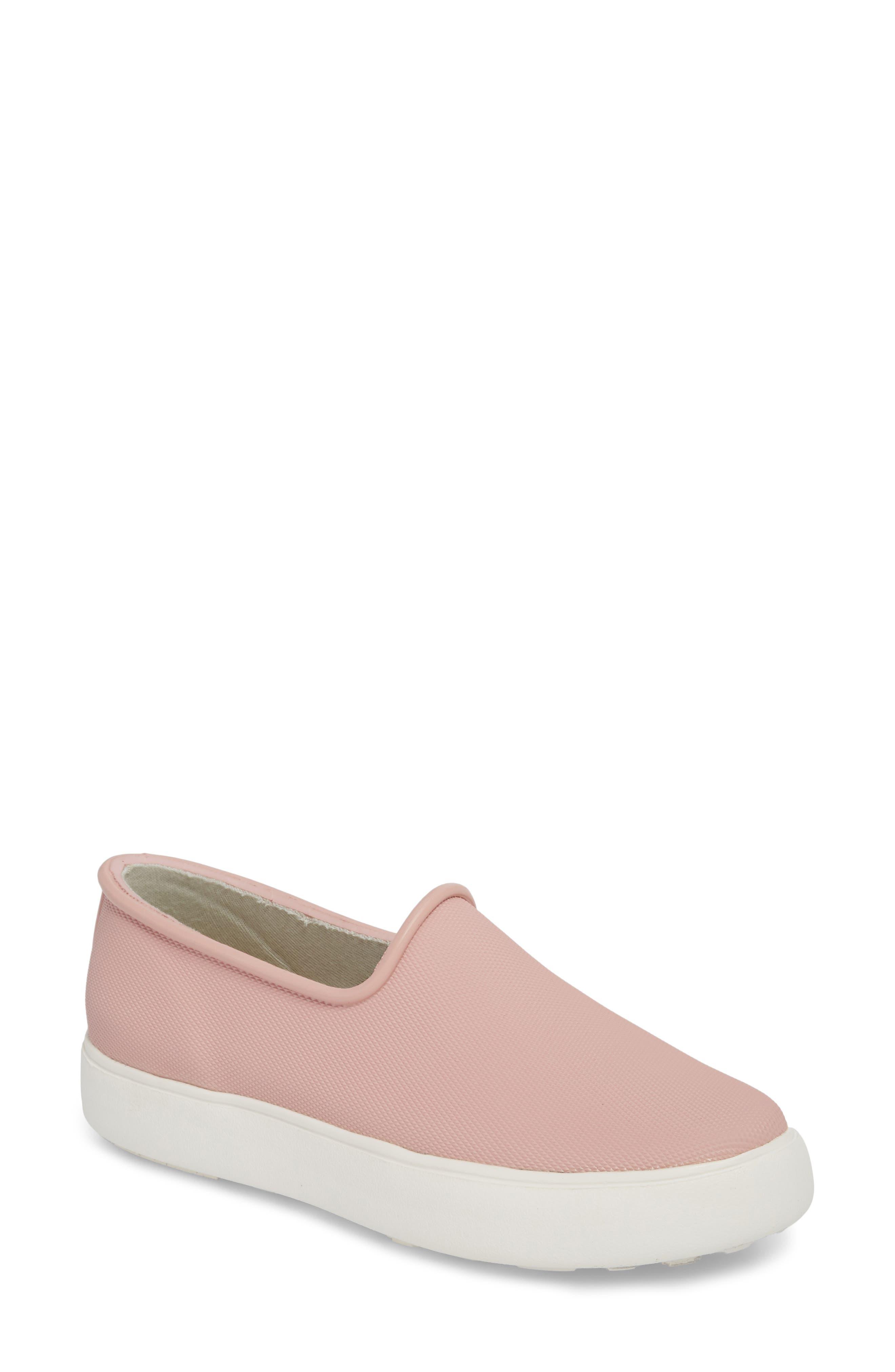 Rainy Day Waterproof Slip-On Sneaker,                             Main thumbnail 1, color,                             Dusty Pink