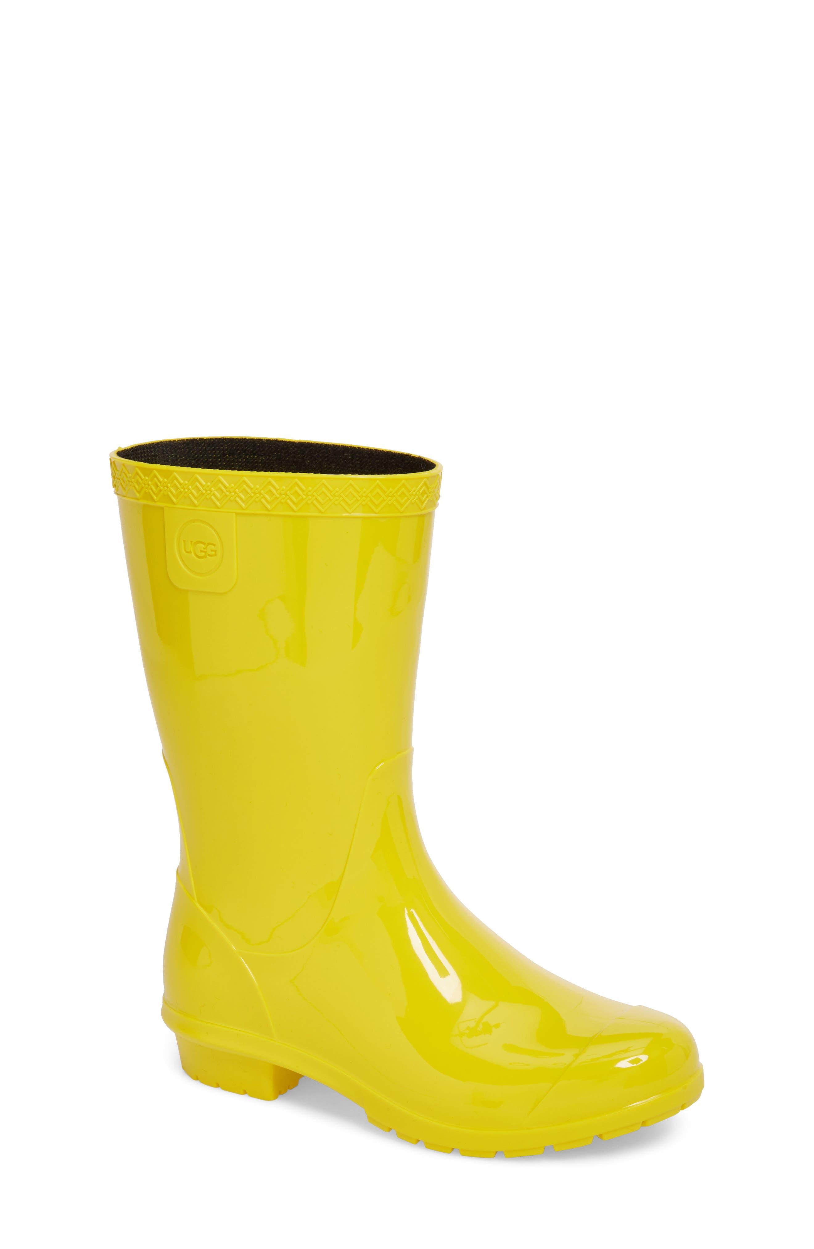 Raana Waterproof Rain Boot,                             Main thumbnail 1, color,                             Lemon Yellow