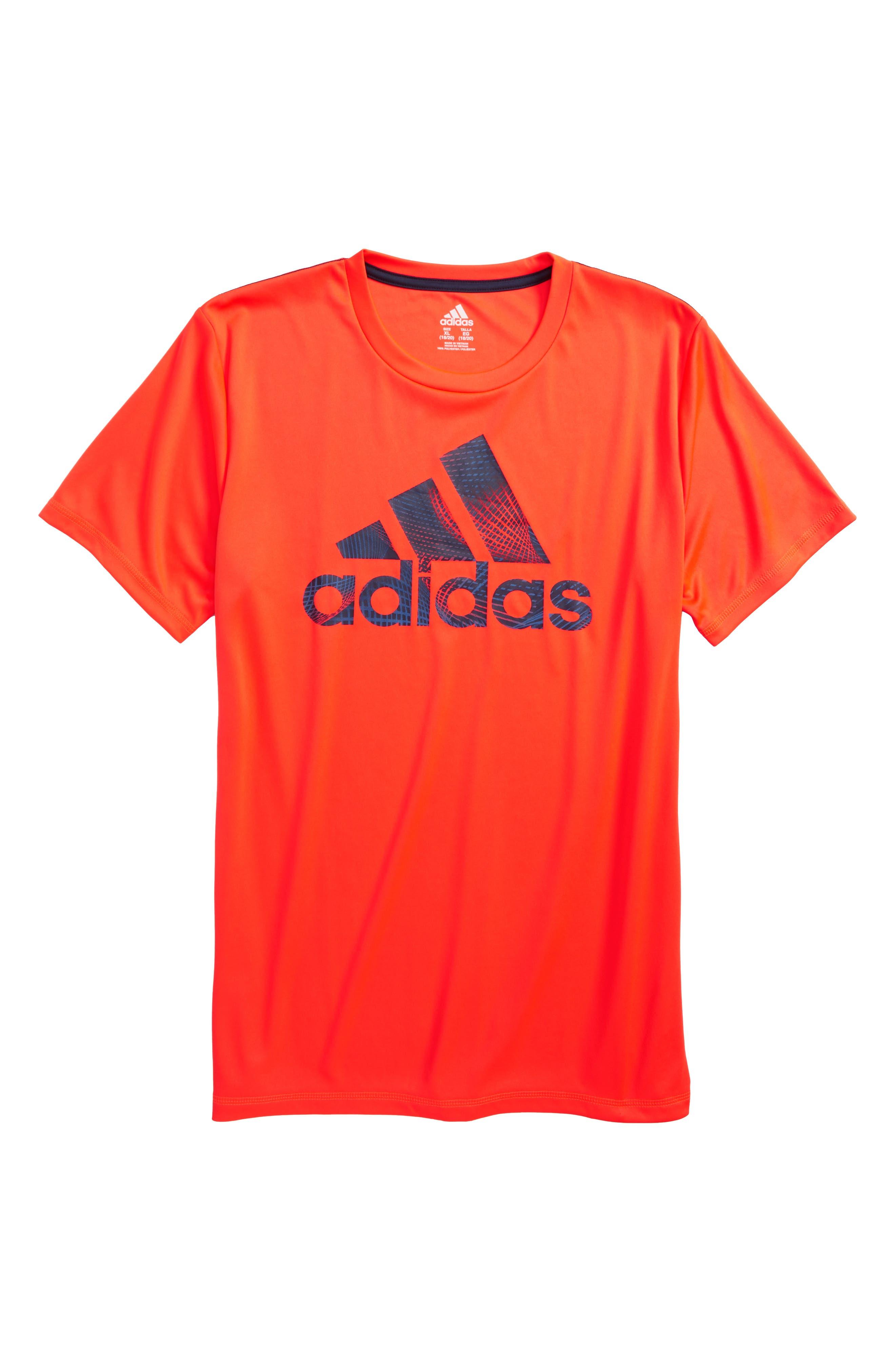 Logo T-Shirt,                         Main,                         color, Red Orange