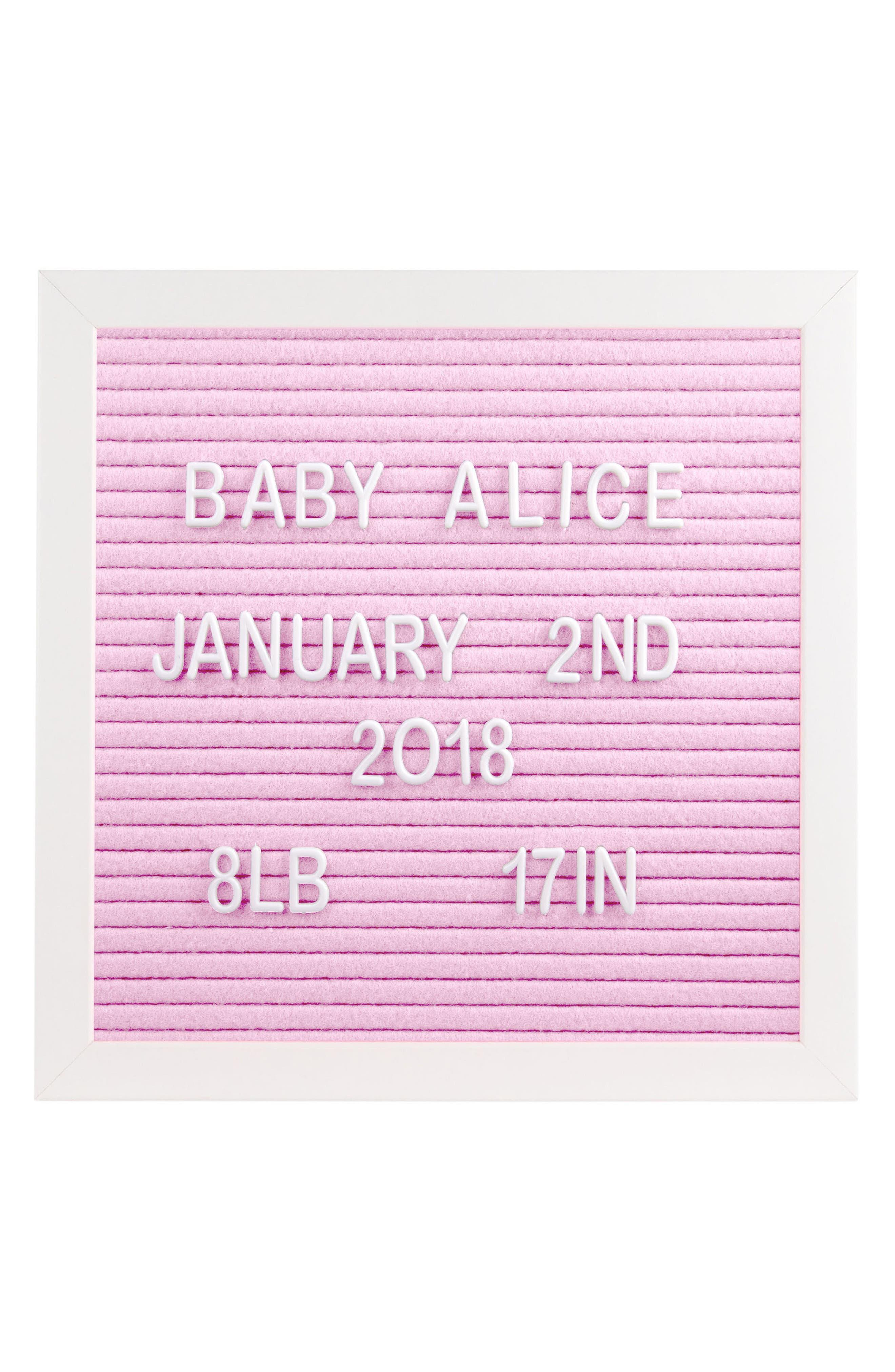 Changeable Felt Letter Board Set,                         Main,                         color, Pink