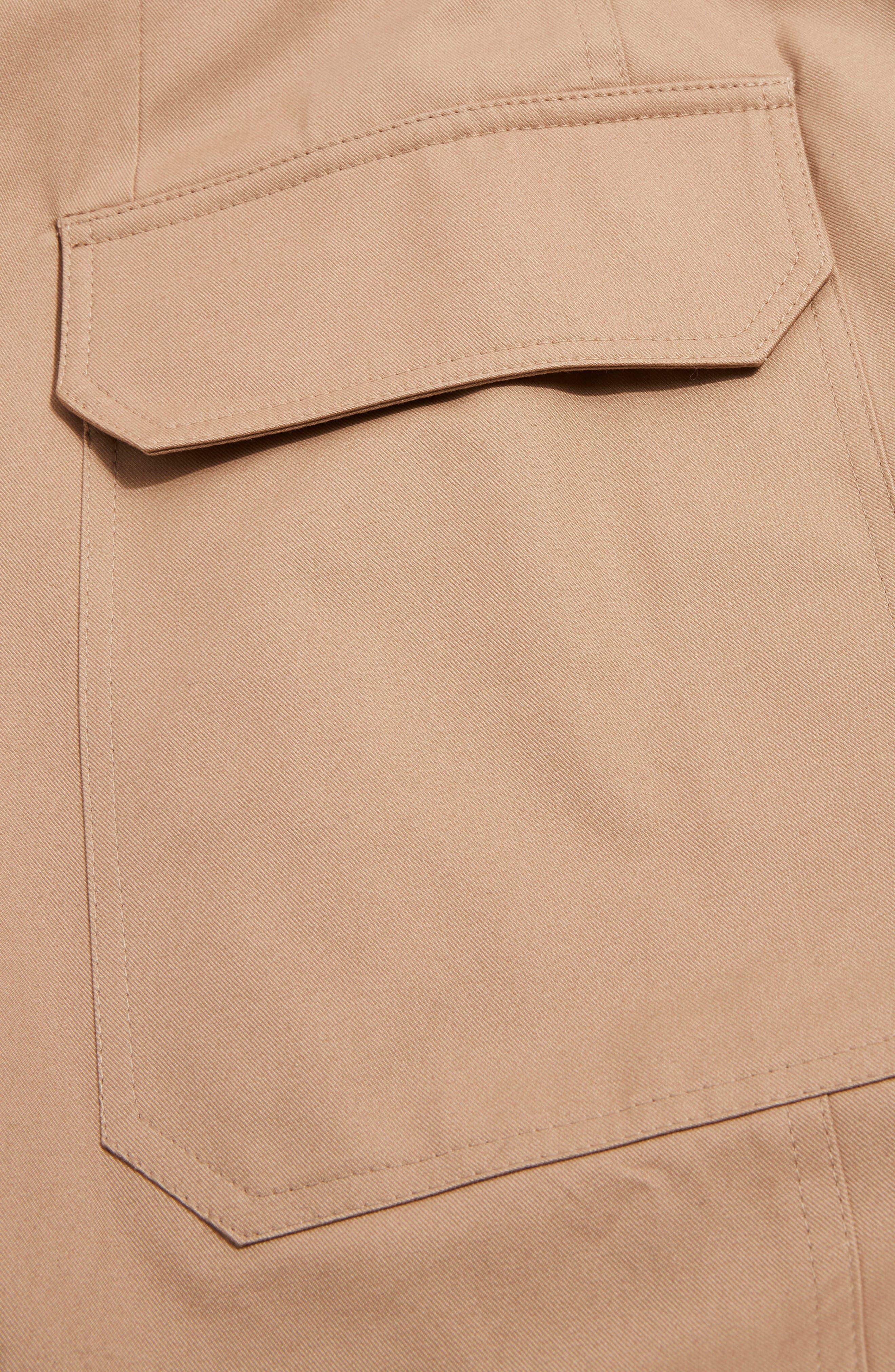 Boutique Utility Wrap Skirt,                             Alternate thumbnail 5, color,                             Stone