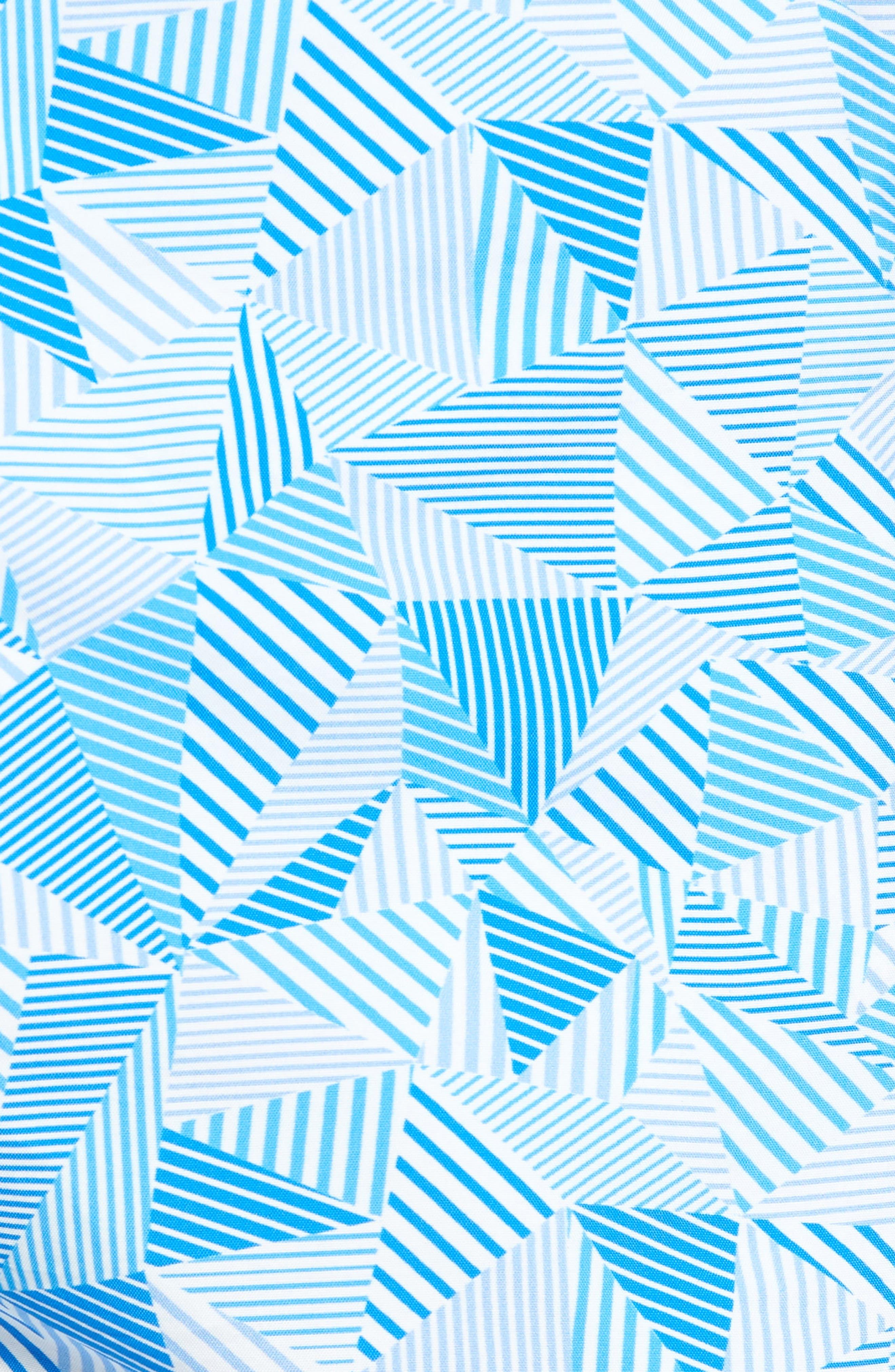 Print Swim Trunks,                             Alternate thumbnail 5, color,                             Light Blue