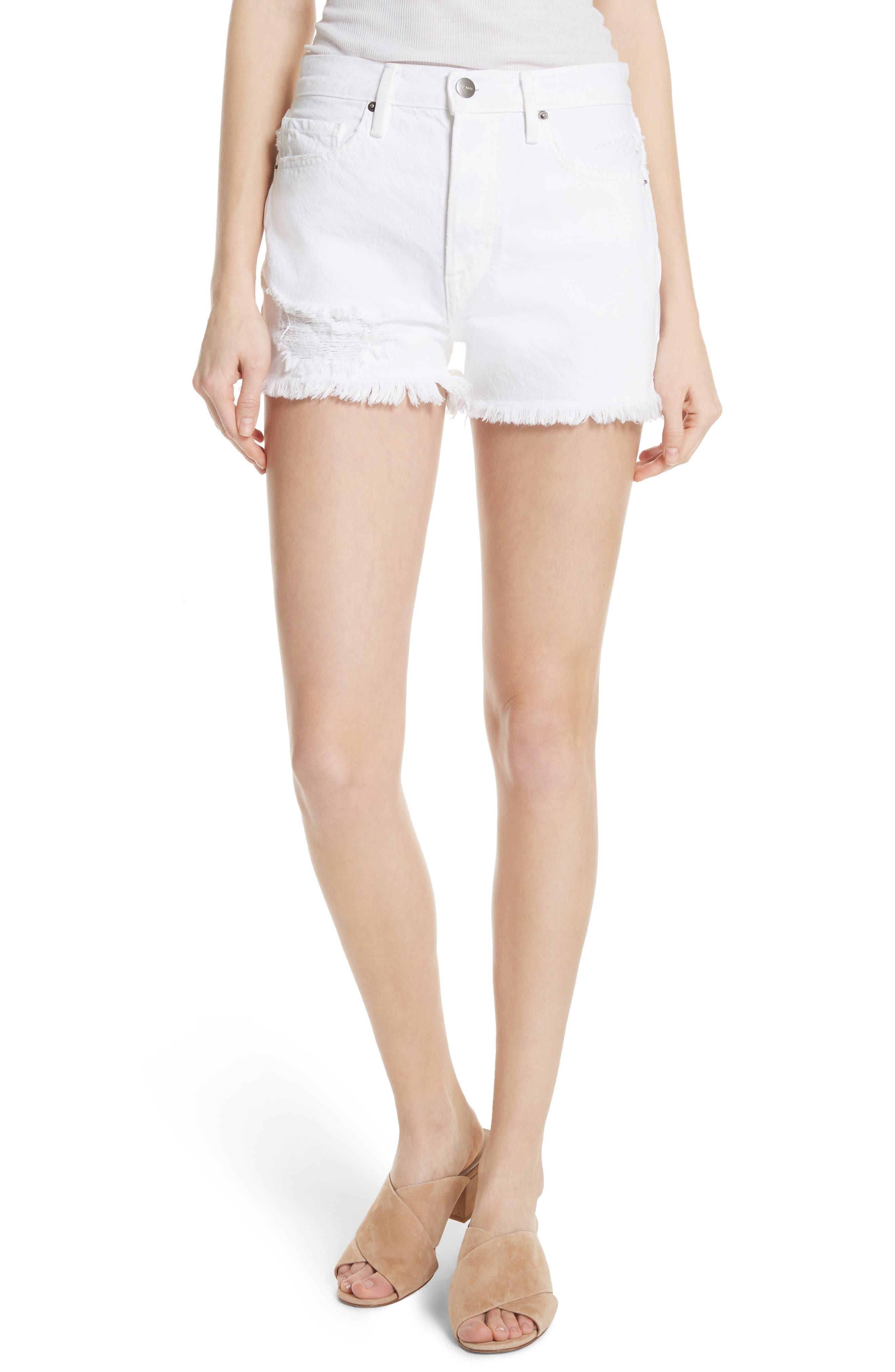 Rigid Re-Release - Le Original Shorts,                         Main,                         color, Blanc Stockley