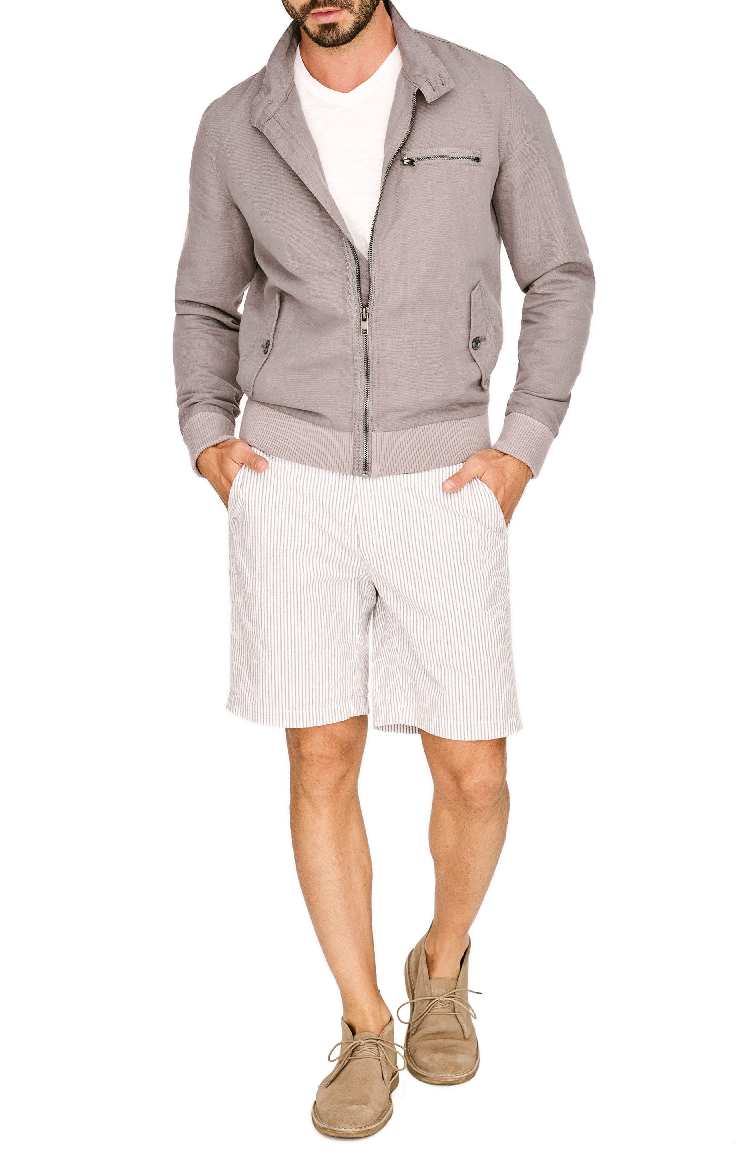 Harrington Linen & Cotton Jacket,                             Alternate thumbnail 7, color,                             Shade