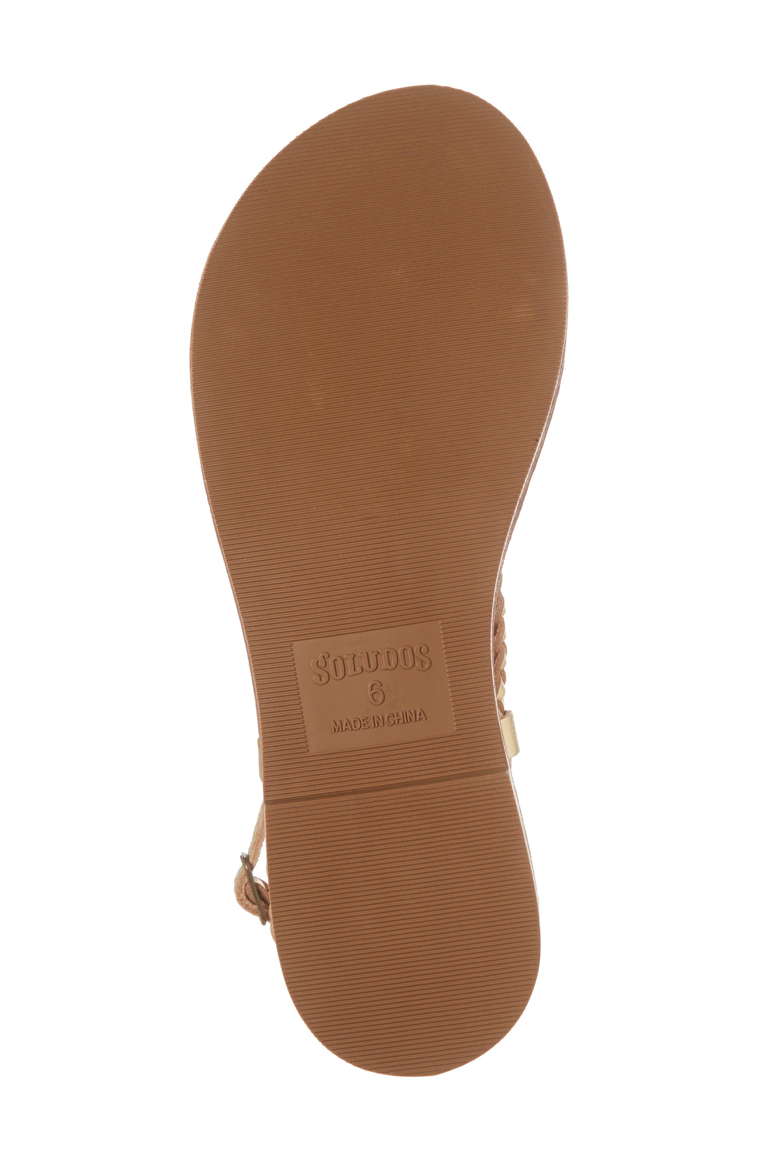 Amalfi Braided Metallic Sandal,                             Alternate thumbnail 6, color,                             Gold Leather
