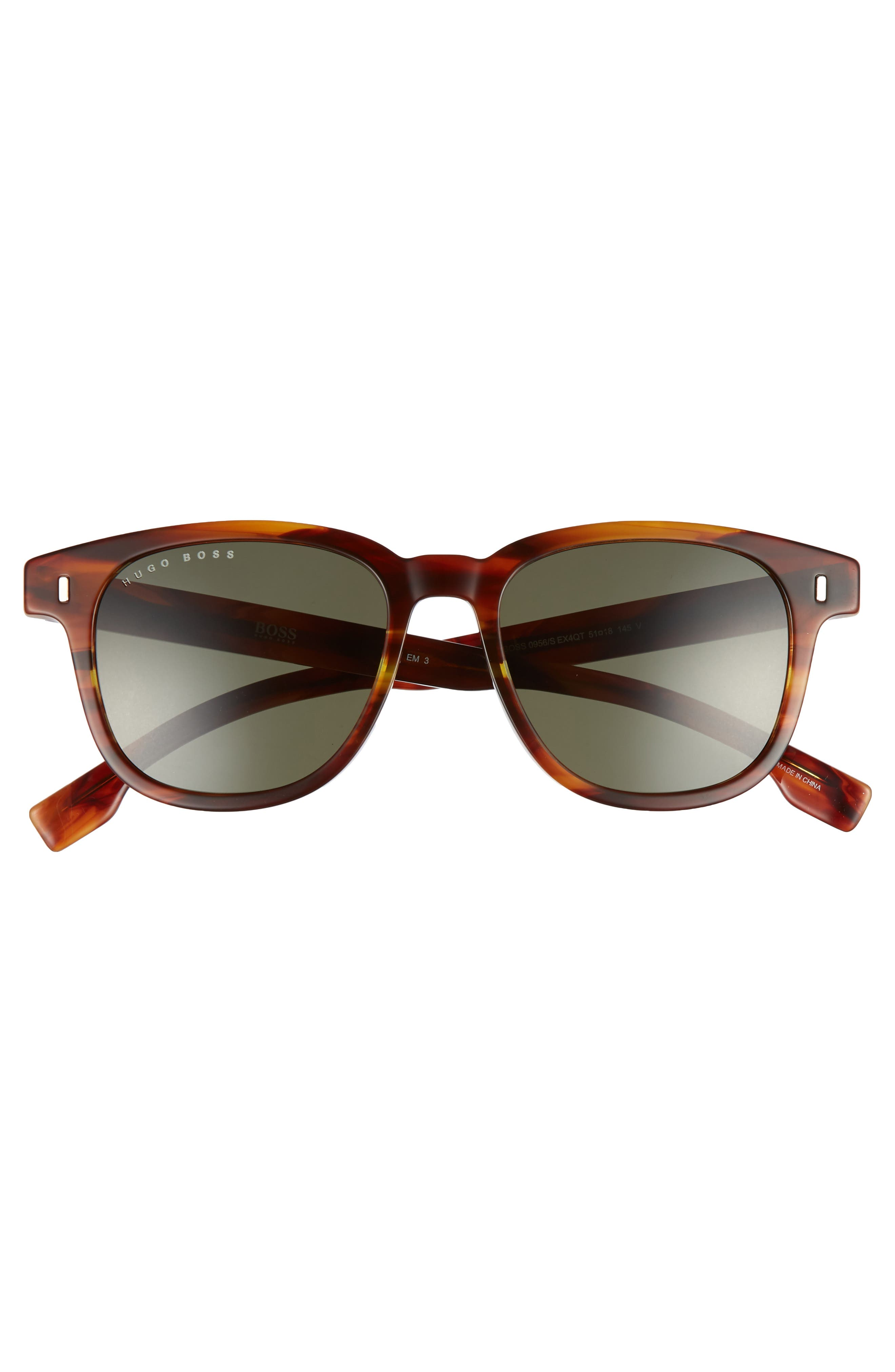 51mm Polarized Sunglasses,                             Alternate thumbnail 2, color,                             Brown Horn
