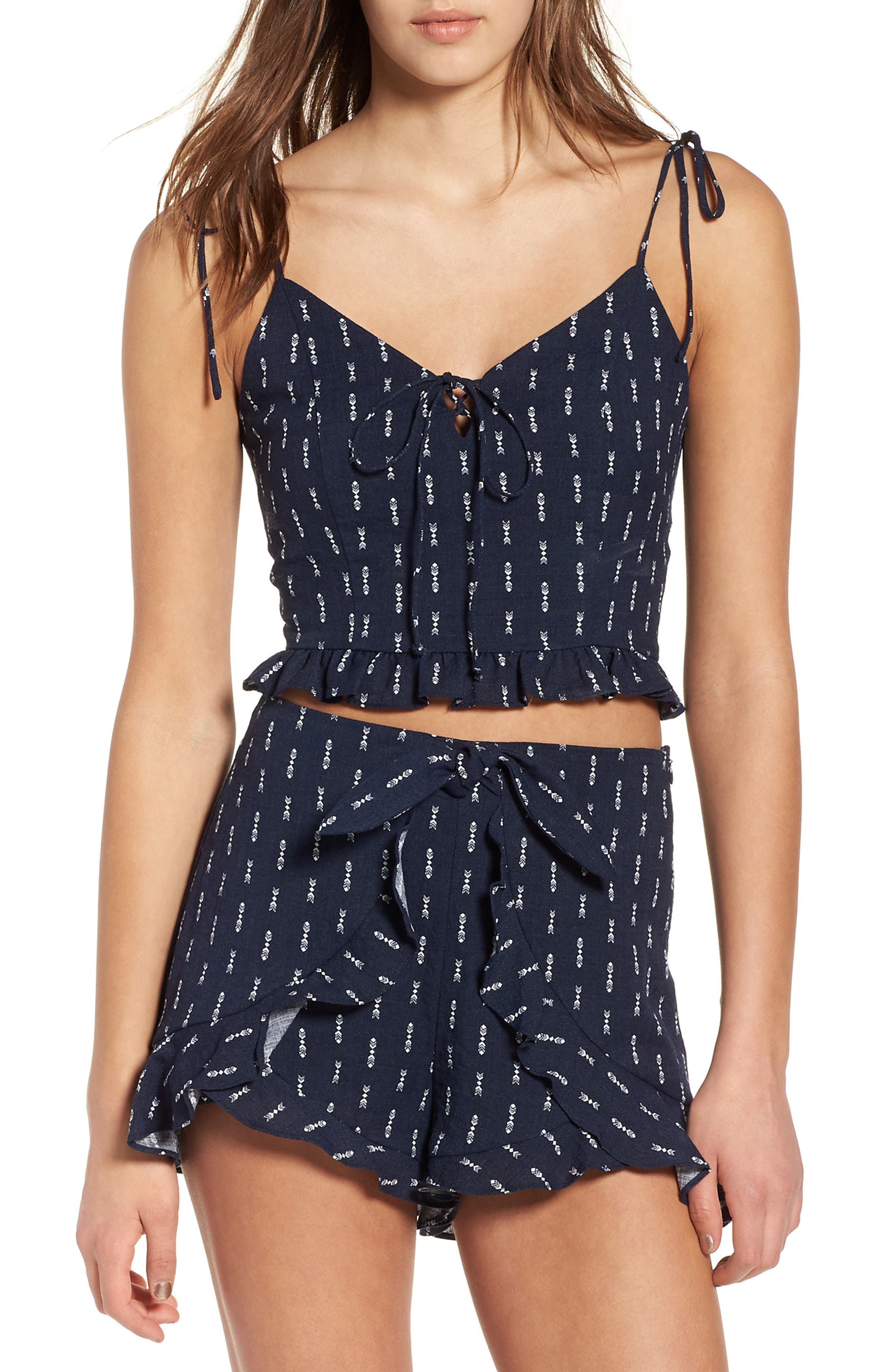 Melrose Crop Camisole,                         Main,                         color, Navy