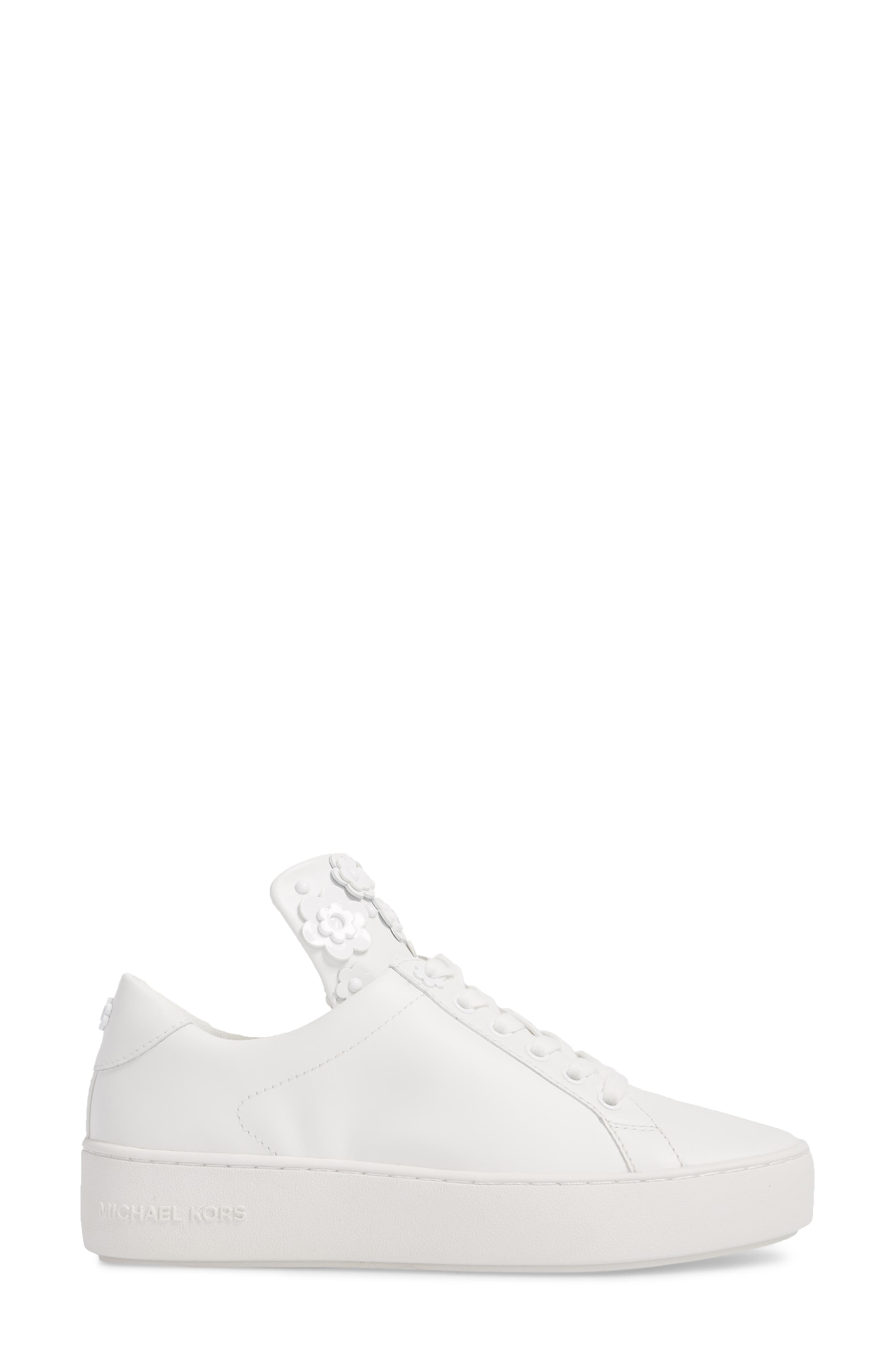 Mindy Platform Sneaker,                             Alternate thumbnail 3, color,                             Optic White