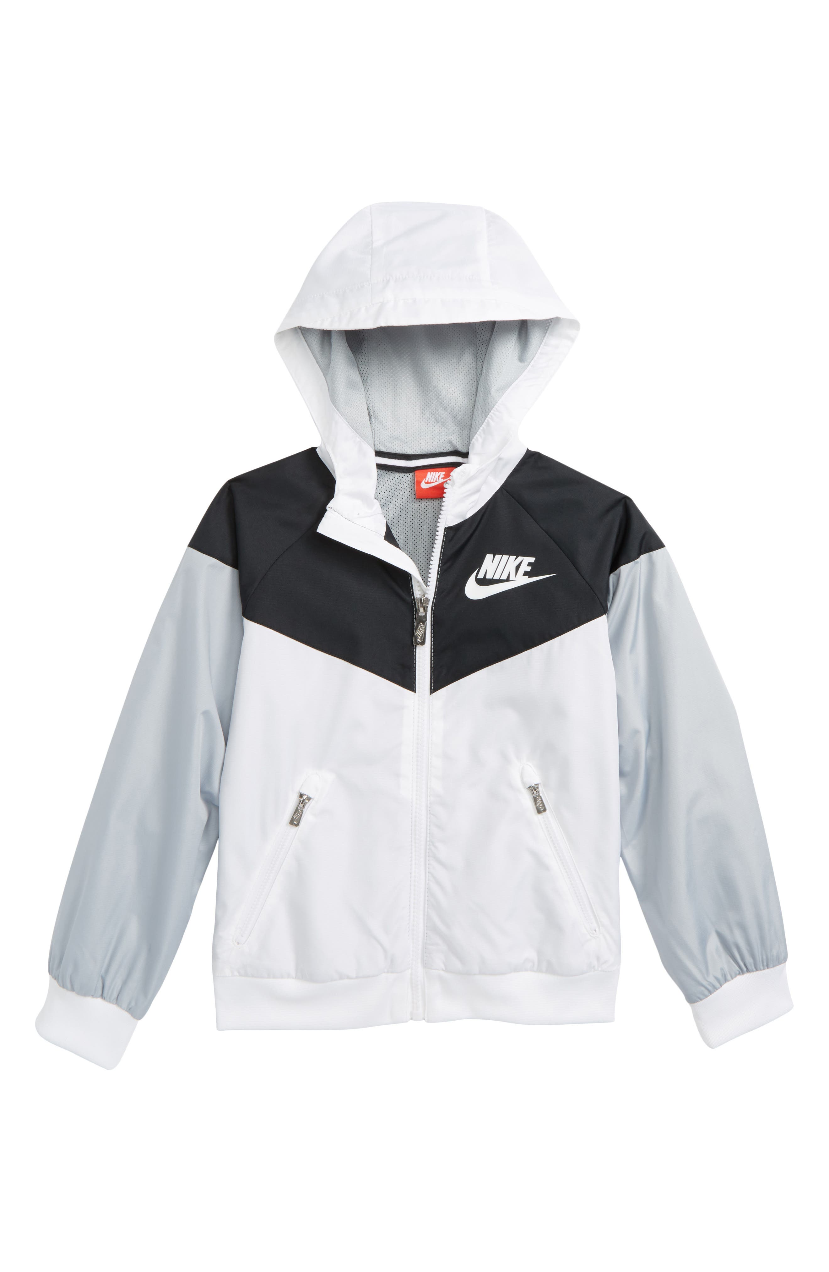 Windrunner Water Resistant Hooded Jacket,                         Main,                         color, White