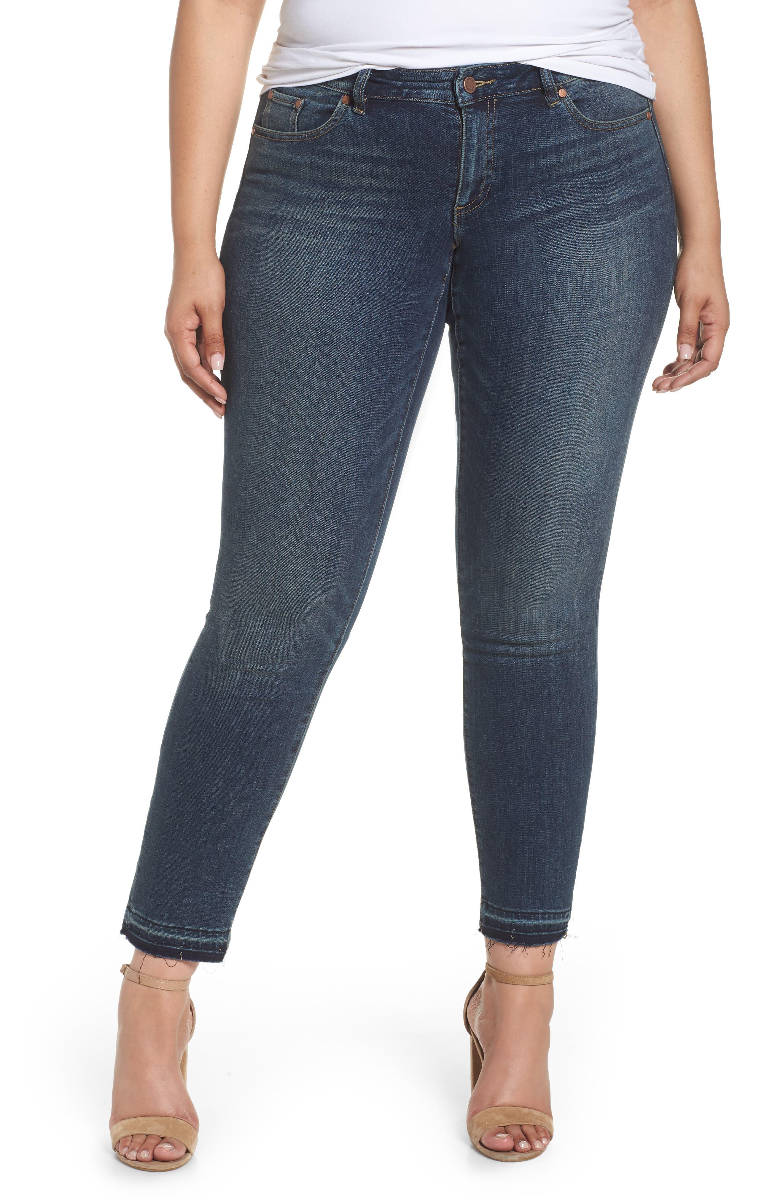 Release Hem Ankle Jeans,                         Main,                         color, Mid Vintage
