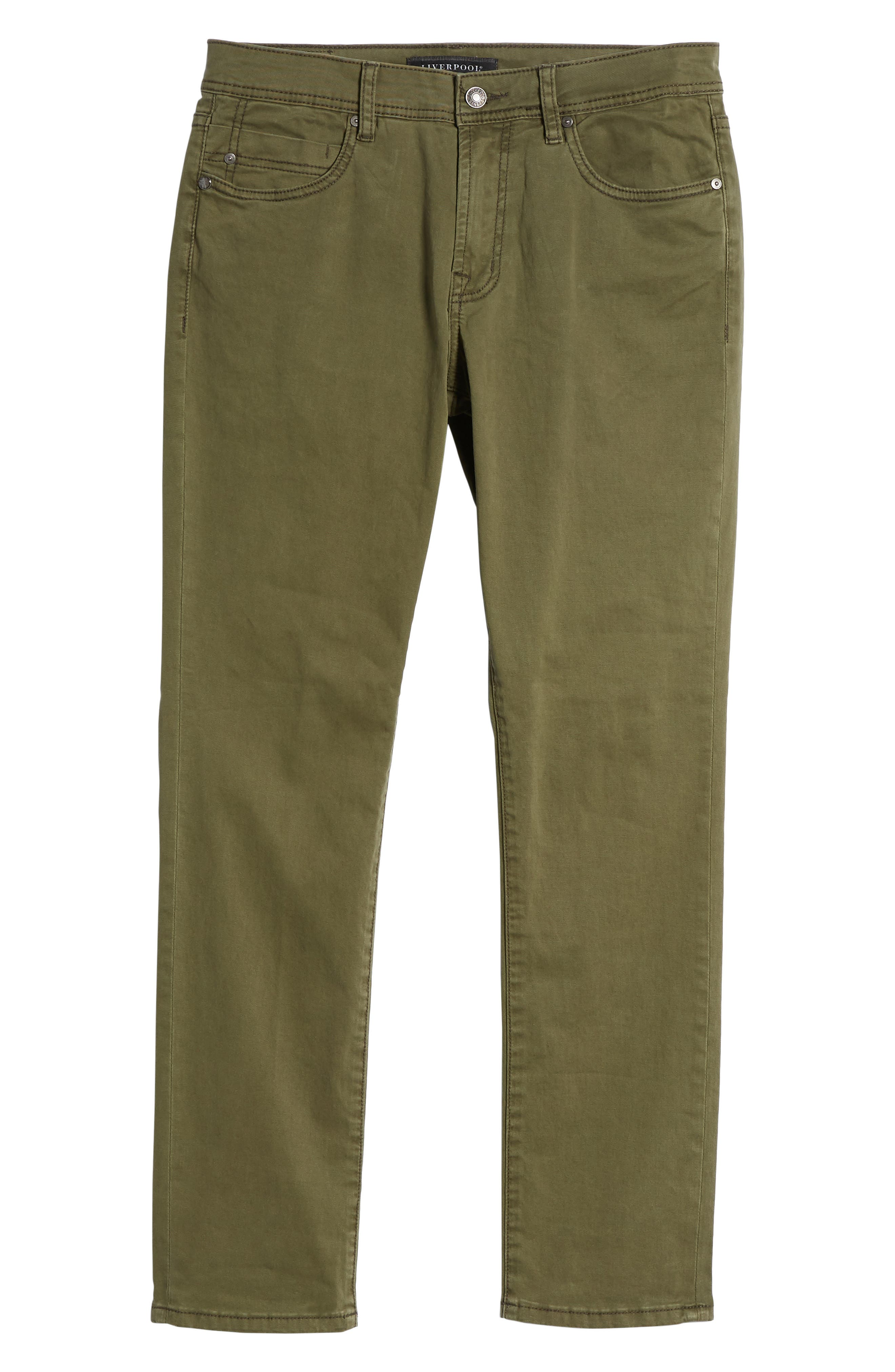 Jeans Co. Kingston Slim Straight Leg Jeans,                             Alternate thumbnail 6, color,                             Olive Night