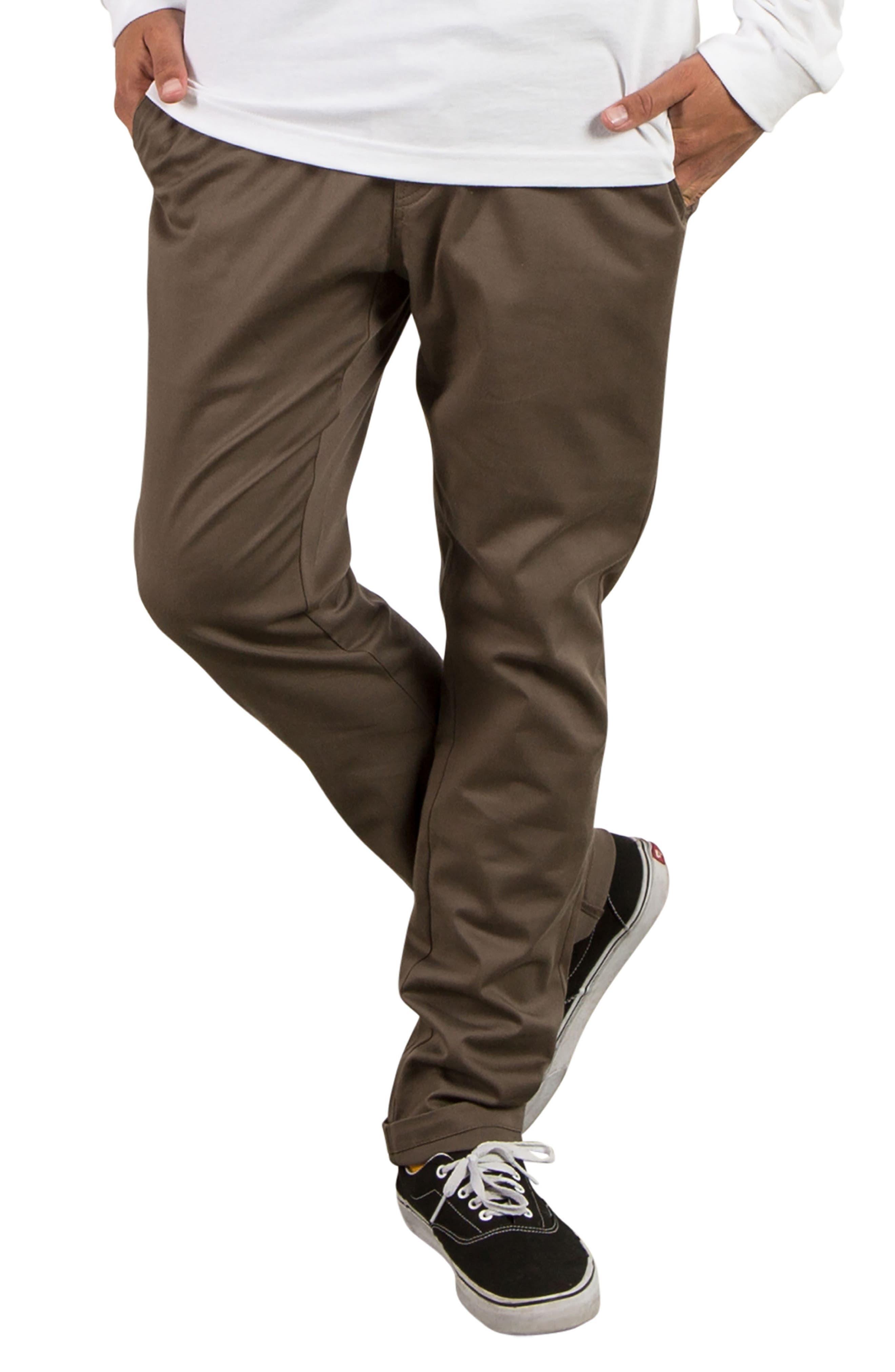 Comfort Chino Pants,                             Main thumbnail 1, color,                             Mushroom