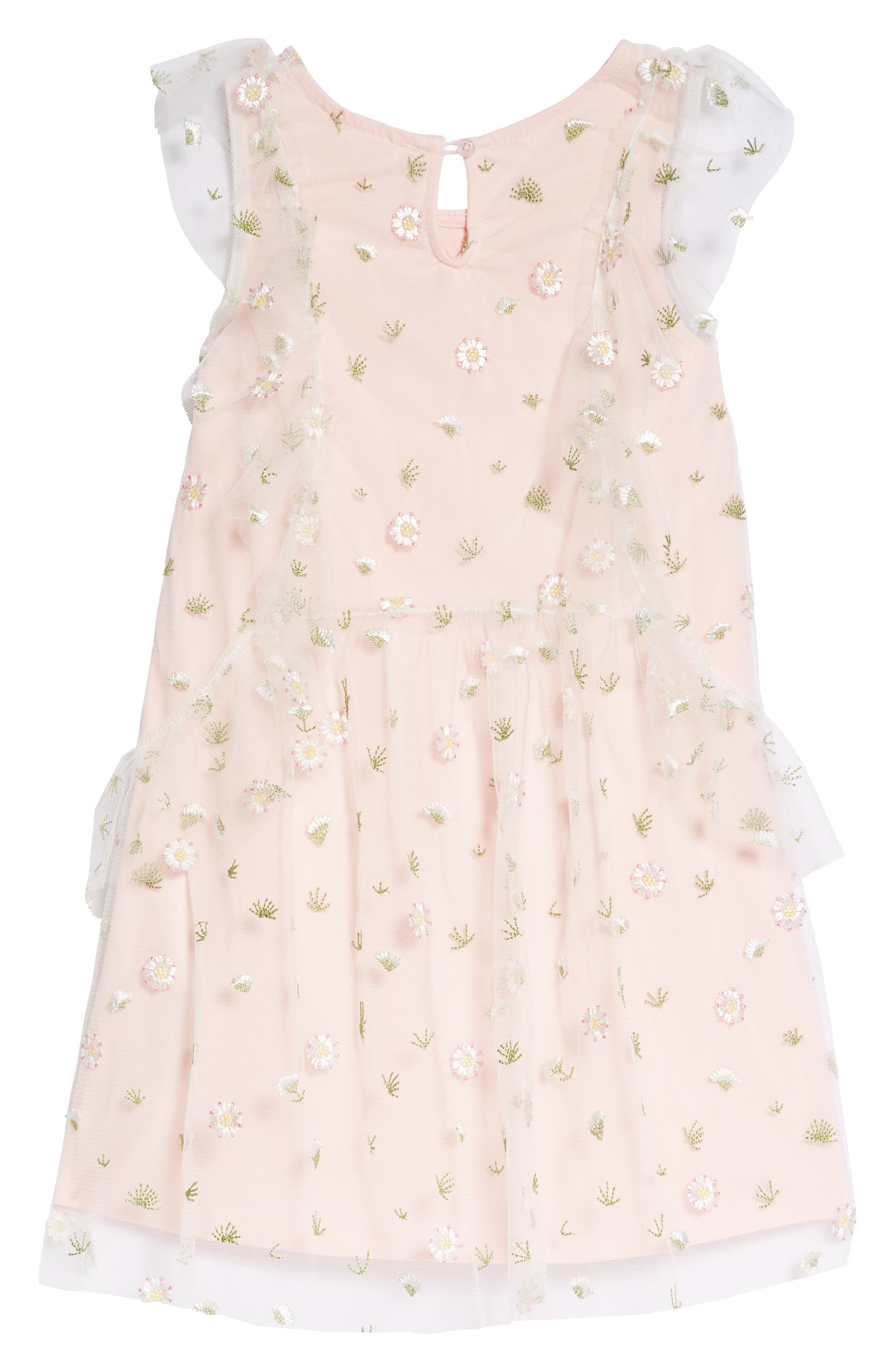 Embroidered Mesh Dress,                             Alternate thumbnail 2, color,                             Pink Multi