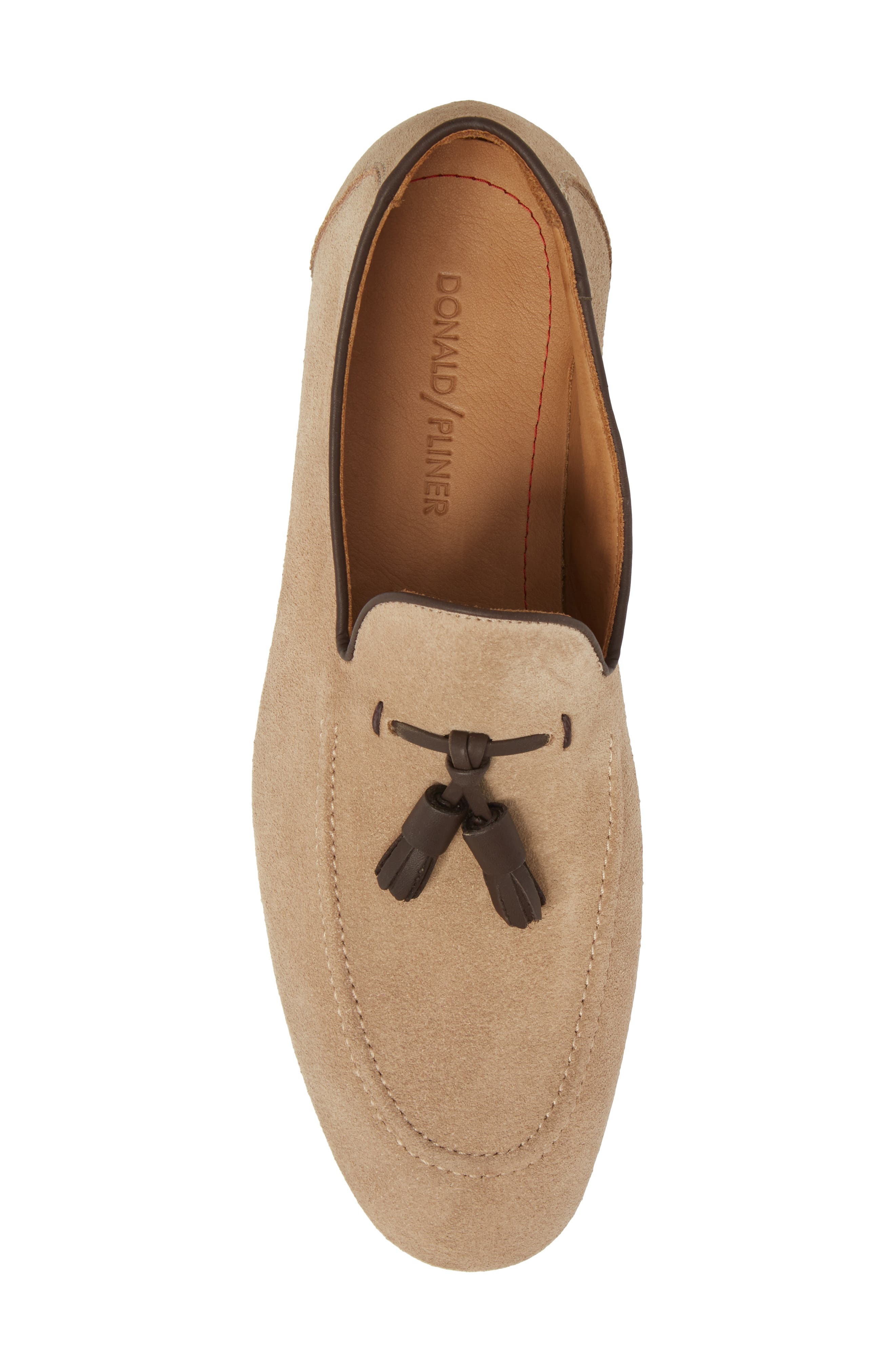 Ario Tassel Loafer,                             Alternate thumbnail 5, color,                             Sand Suede