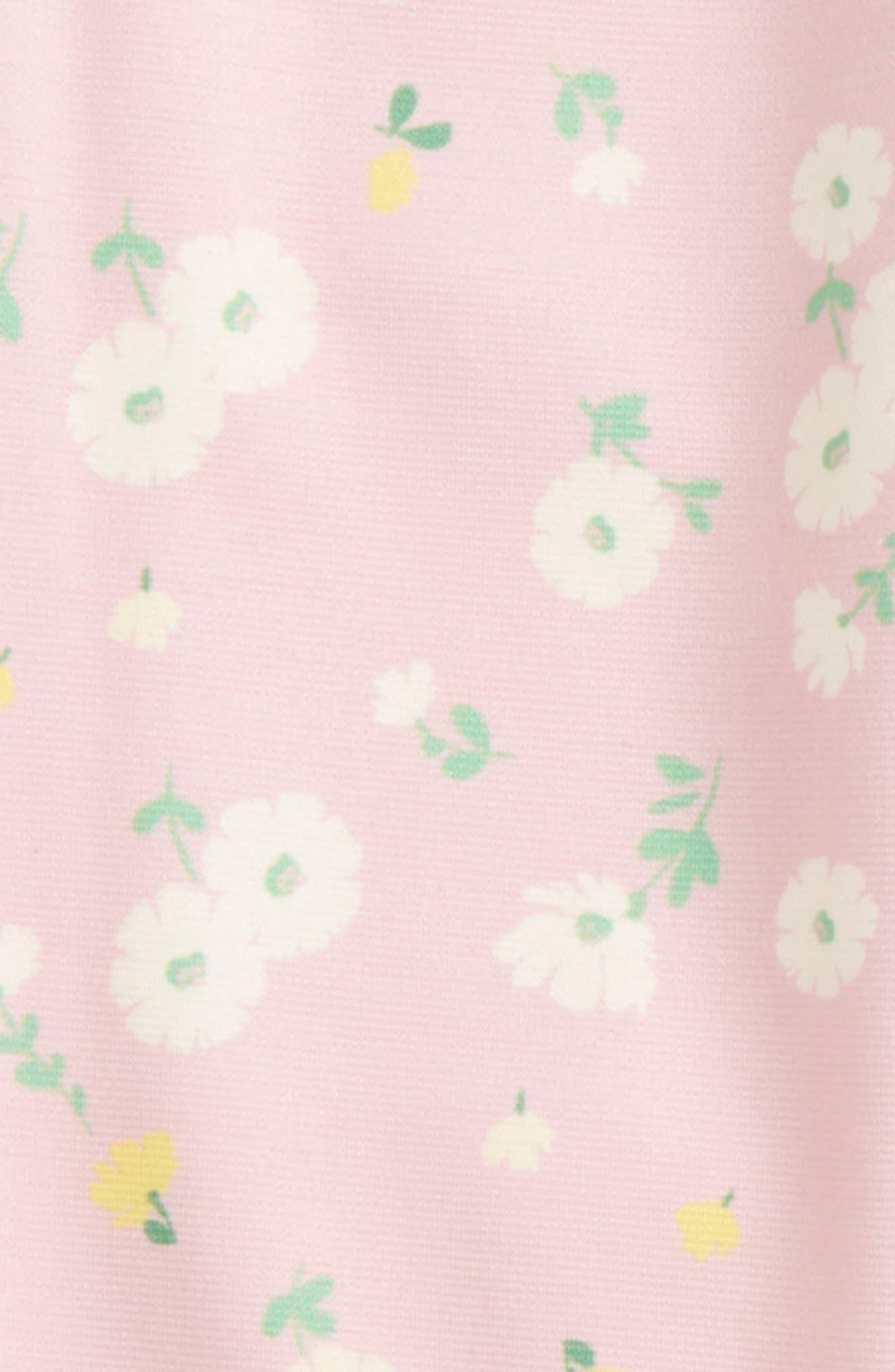 Floral Print Leggings,                             Alternate thumbnail 2, color,                             Pink Multi