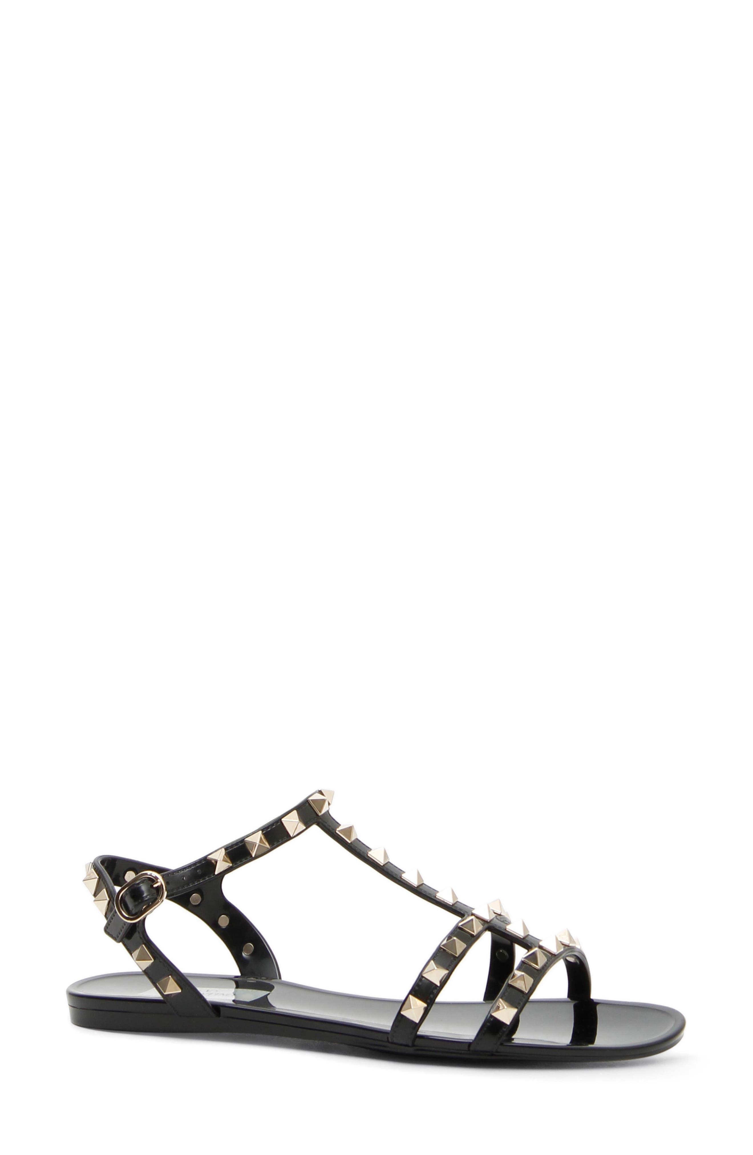 Sandales Pour Les Femmes En Vente, Noir, Caoutchouc, 2017, 3,5 5,5 7,5 Valentino
