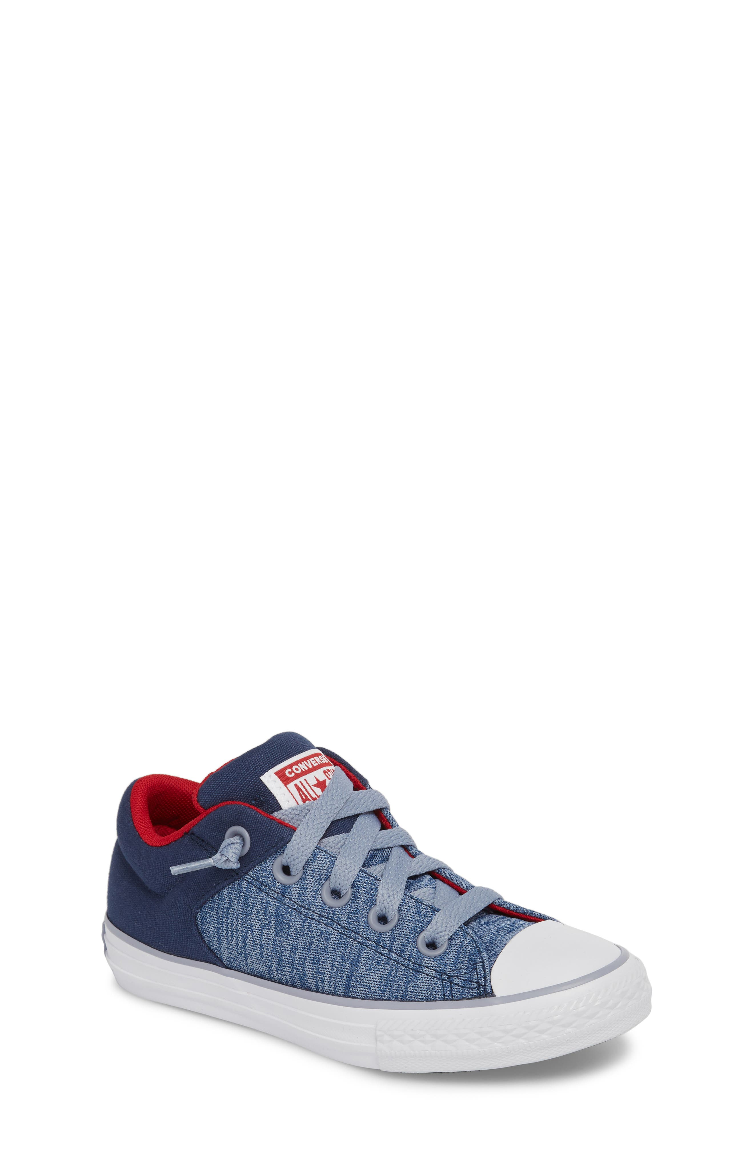 One Star Heather Street Sneaker,                         Main,                         color, Navy