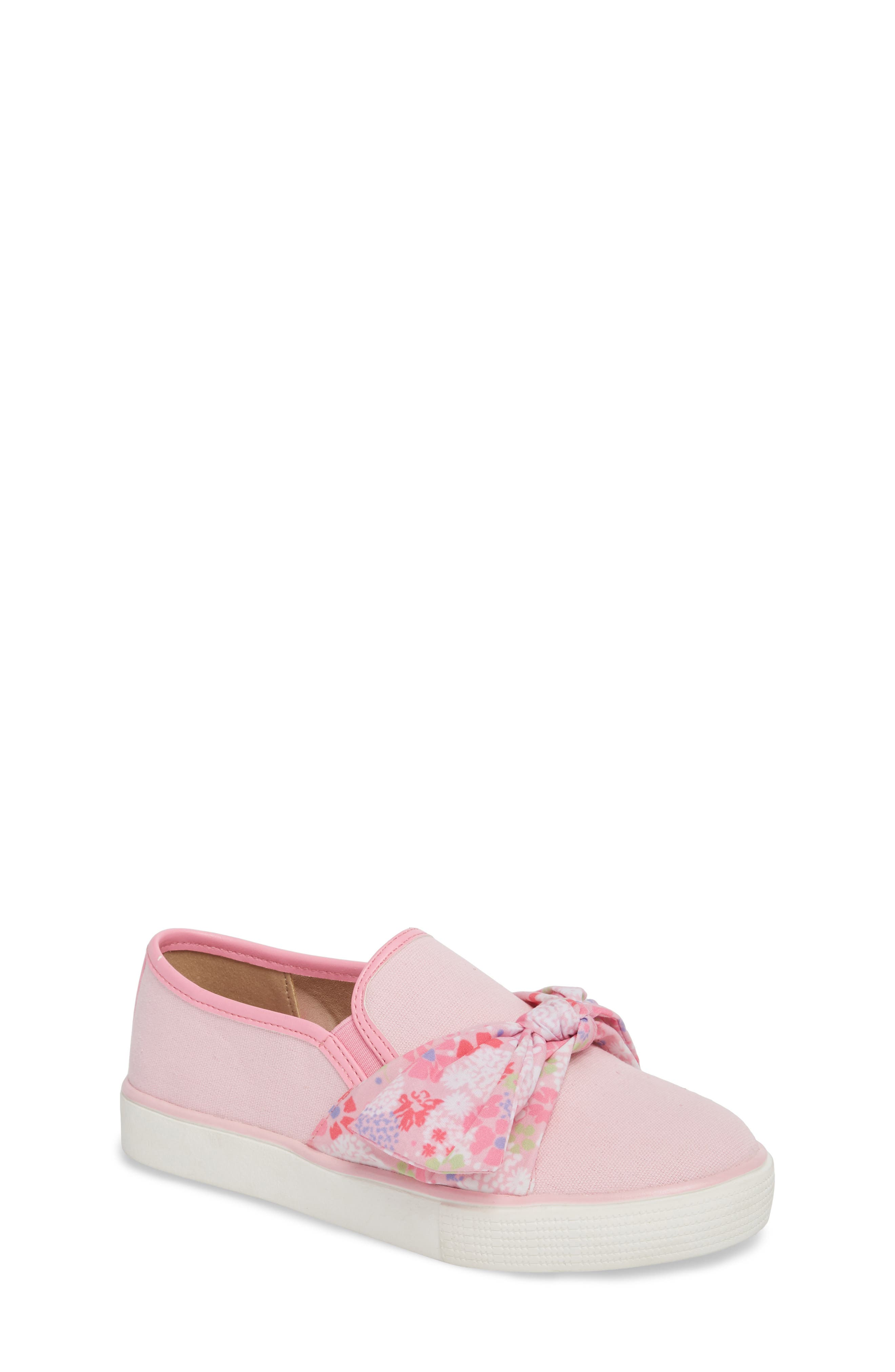 Ashlyn Bow Slip-On Sneaker,                             Main thumbnail 1, color,                             Orchid Pink